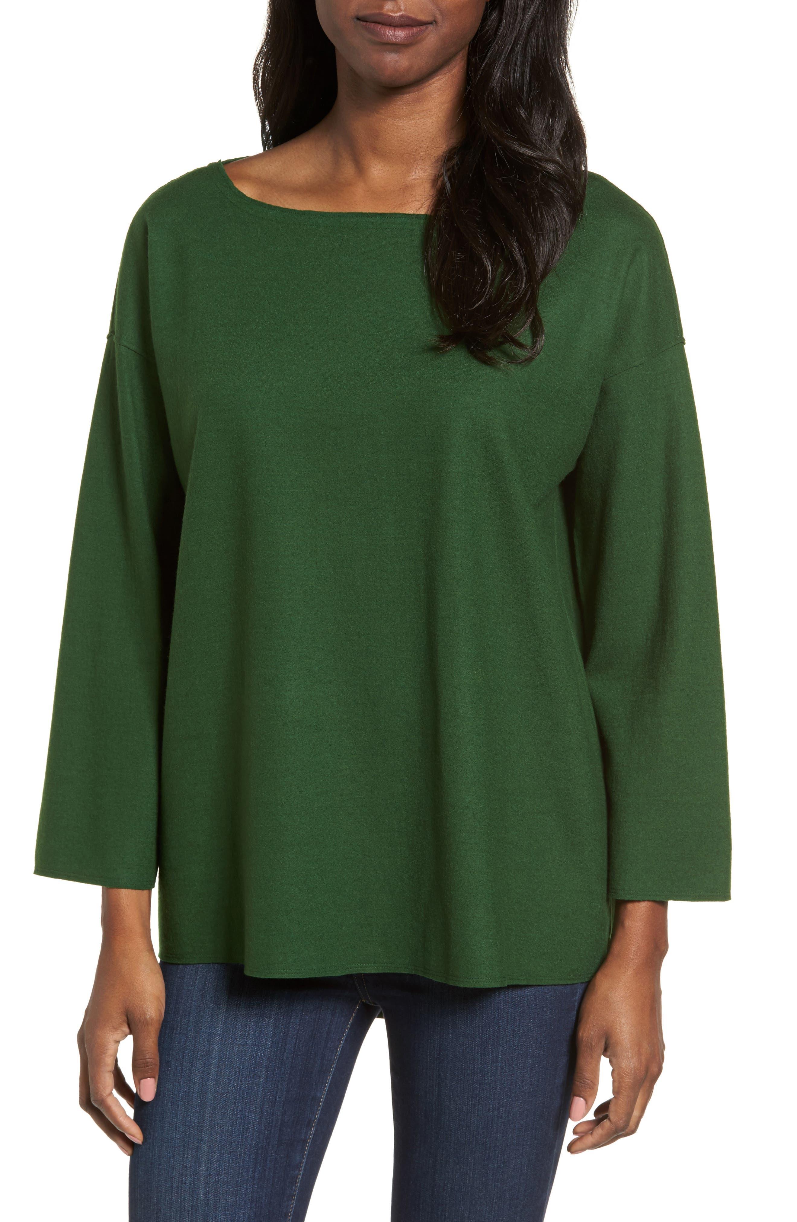 Eileen Fisher Boiled Wool Jersey Top
