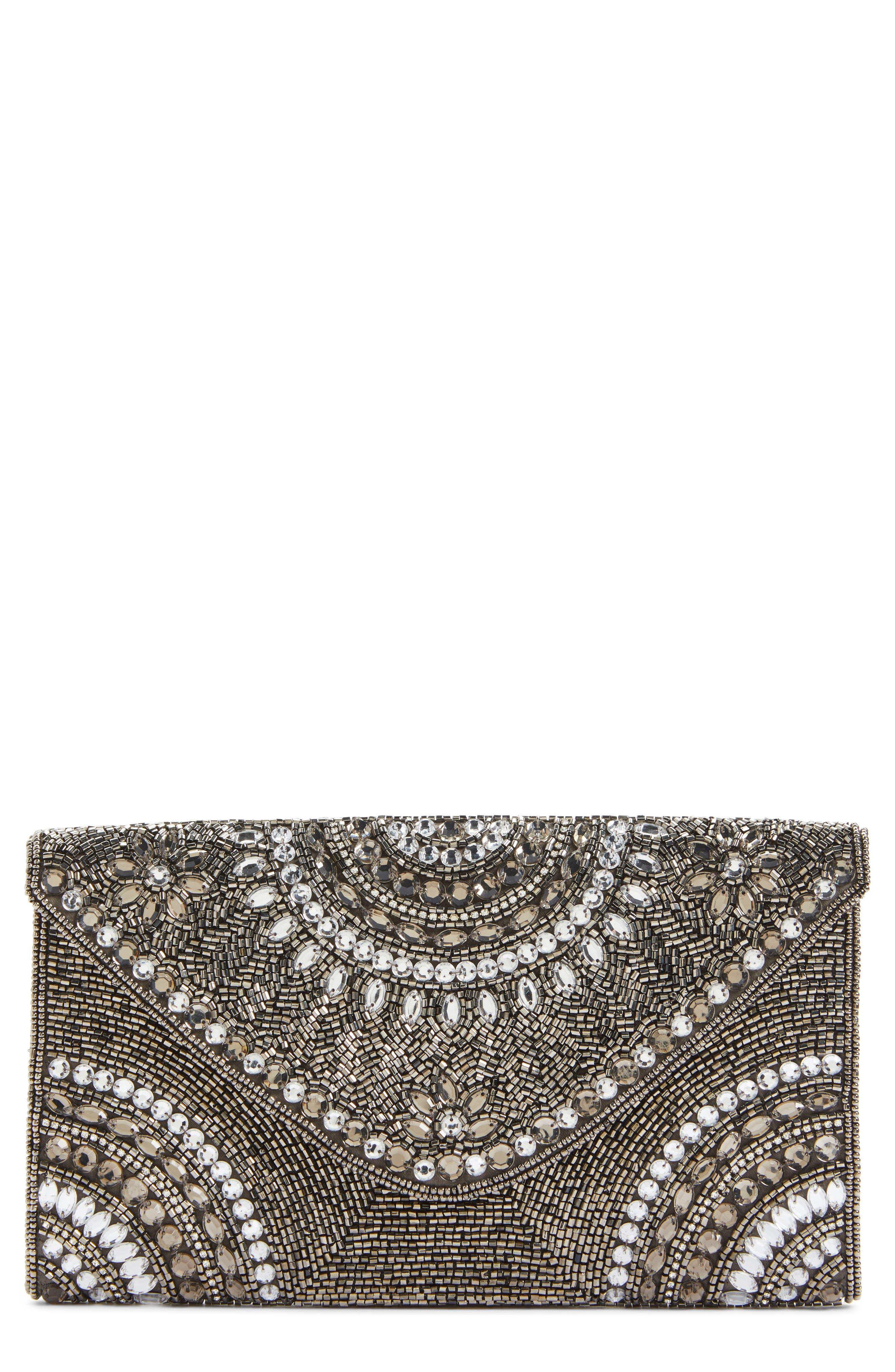 Main Image - Nordstrom Alhambra Beaded Envelope Clutch