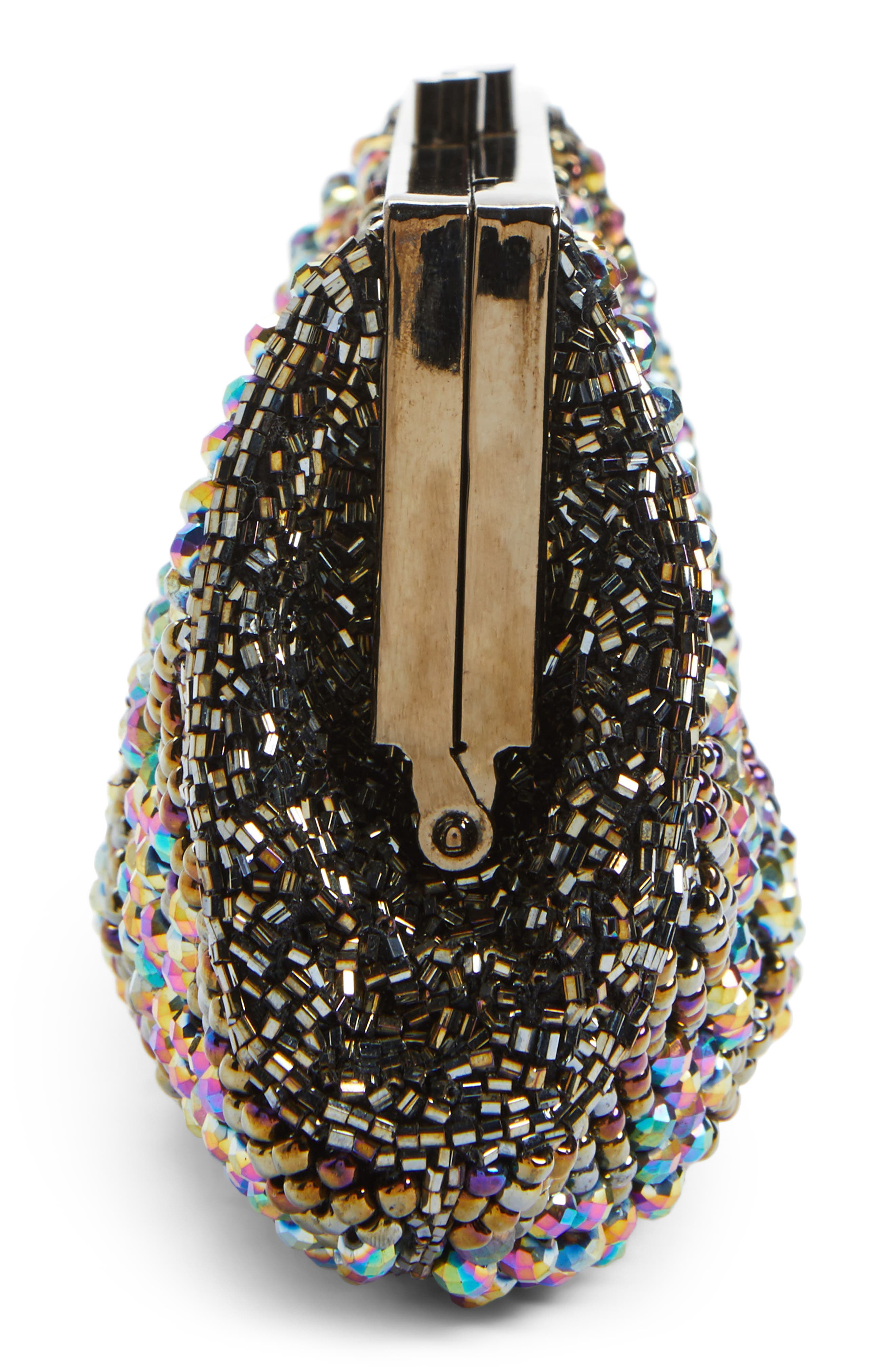 Alternate Image 5  - Nordstrom Faceted Fan Beaded Evening Clutch
