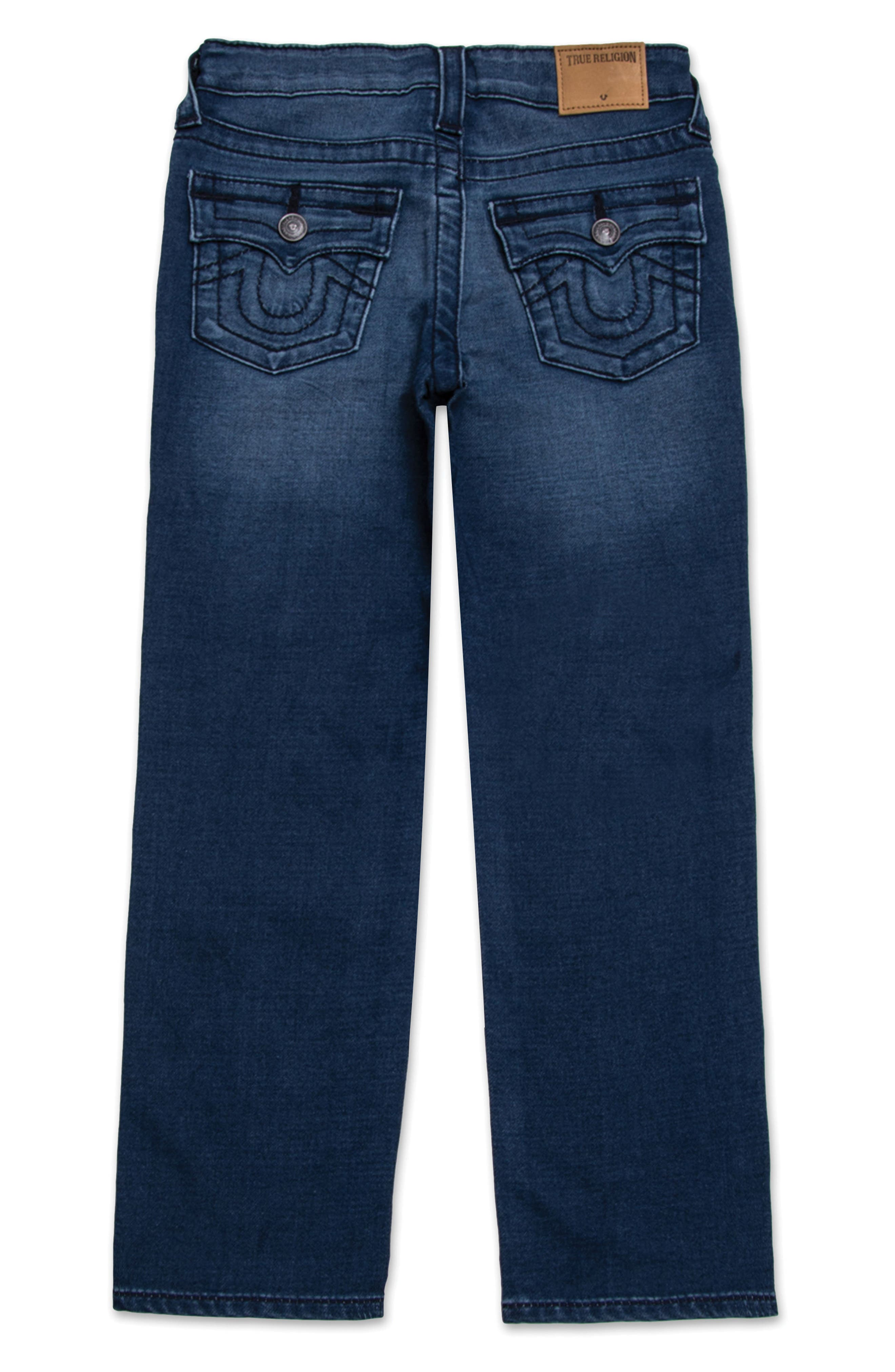 Alternate Image 2  - True Religion Brand Jeans Geno Single End Straight Leg Jeans (Toddler Boys & Little Boys)