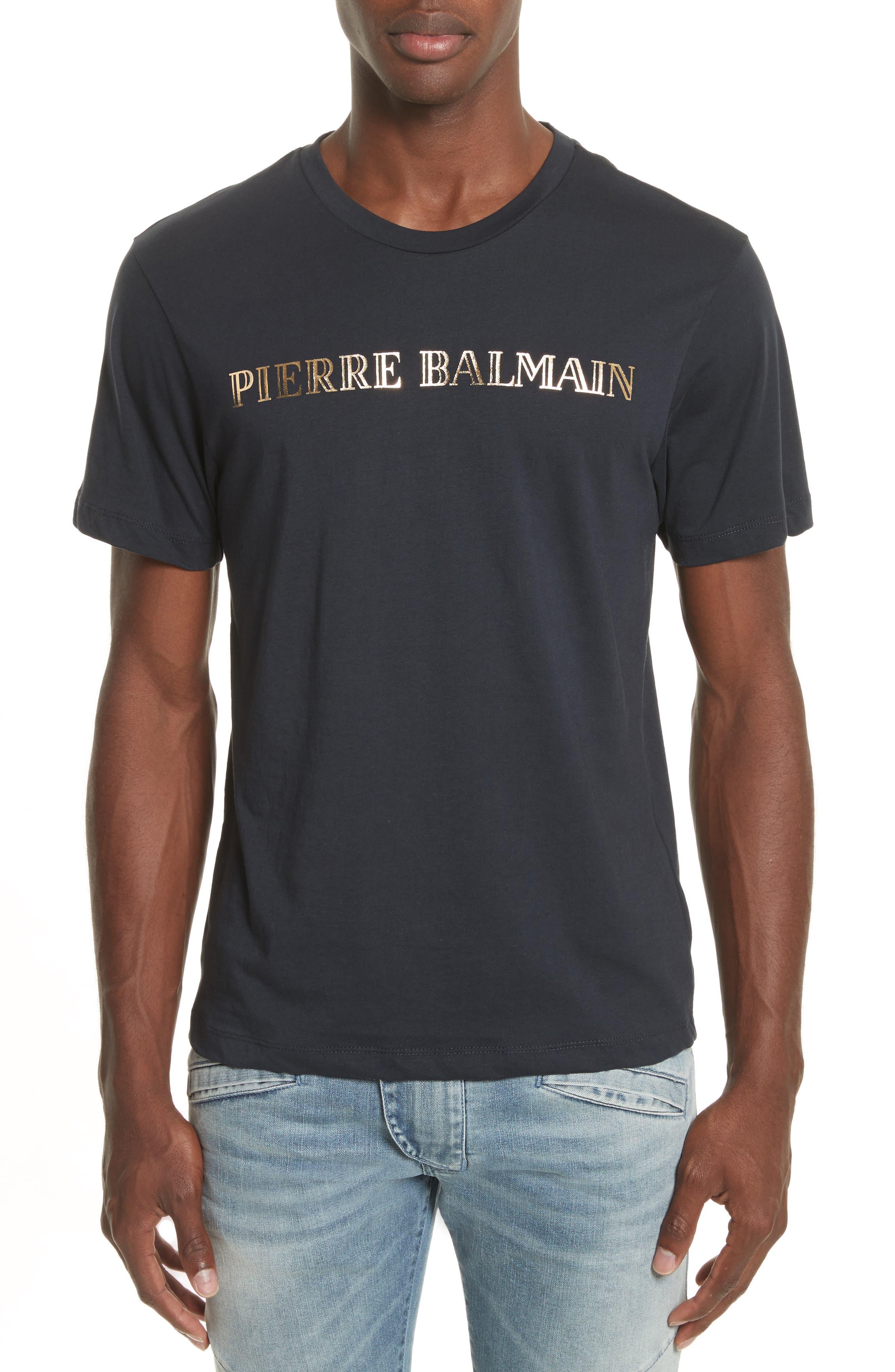 Logo Graphic T-Shirt,                         Main,                         color, Navy