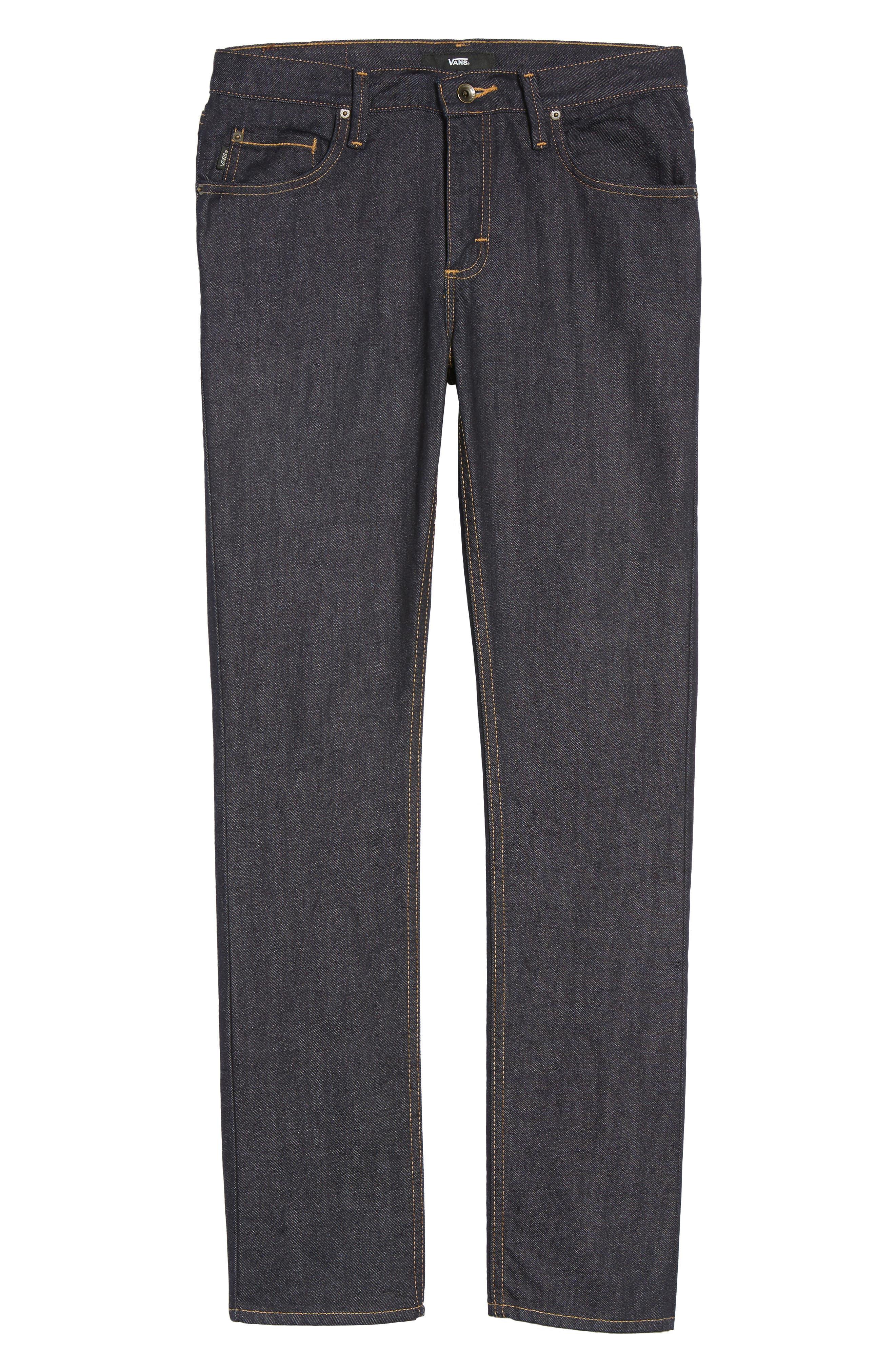 V76 Skinny Jeans,                             Alternate thumbnail 6, color,                             Indigo