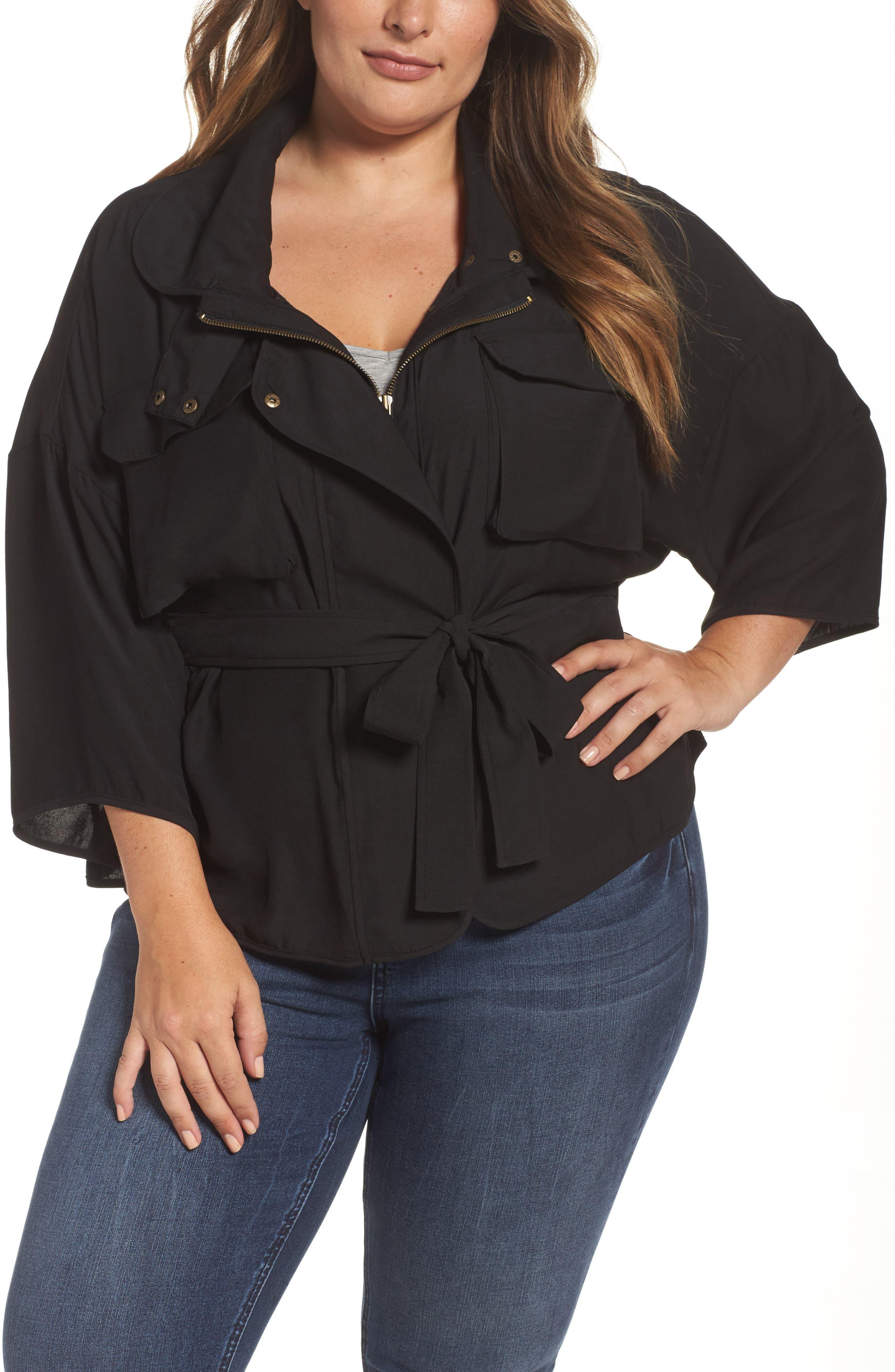 Main Image - Melissa McCarthy Seven7 Utility Jacket (Plus Size)