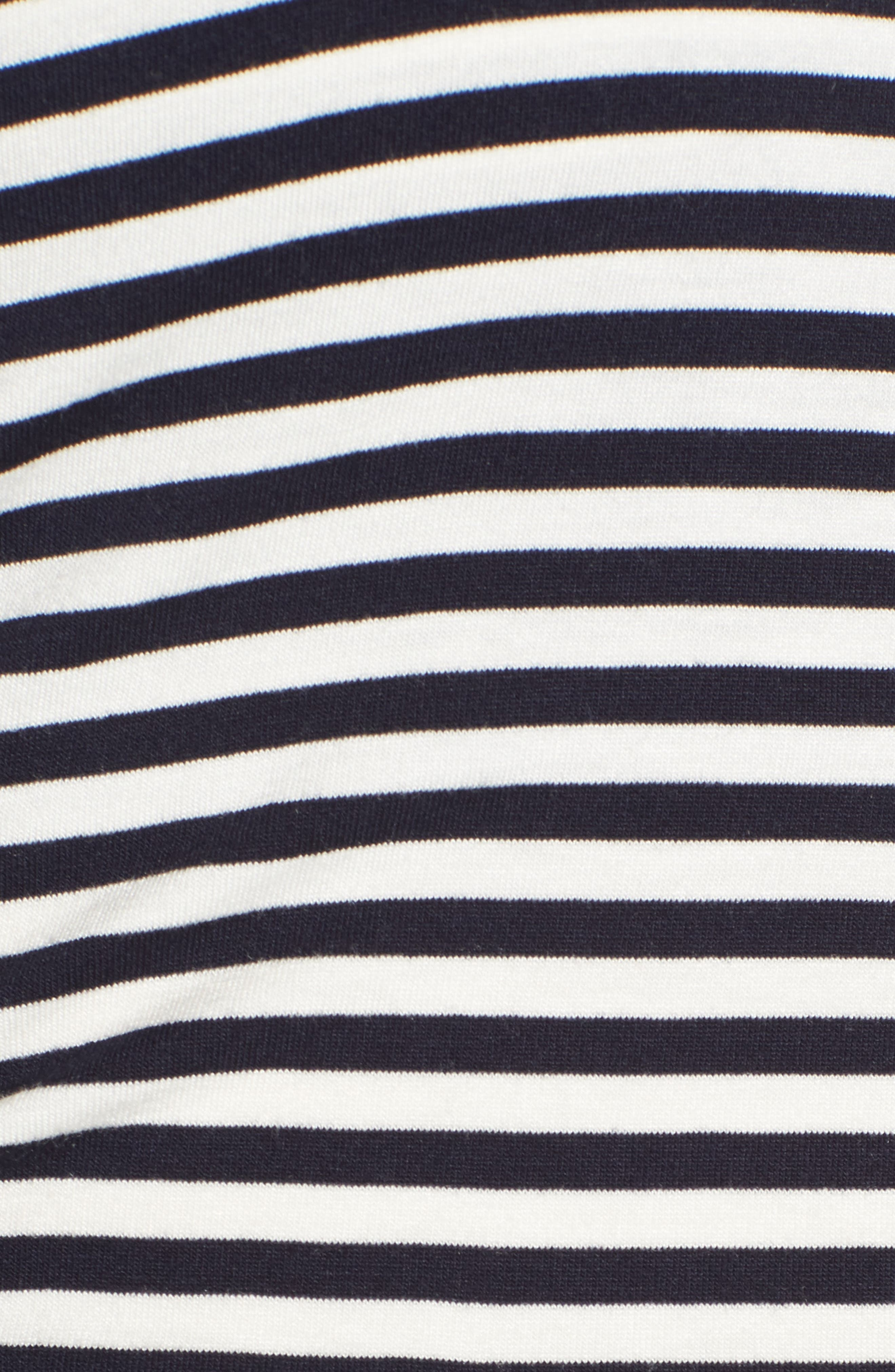 Arlington Stripe Maternity Tee,                             Alternate thumbnail 5, color,                             Navy/ Off White