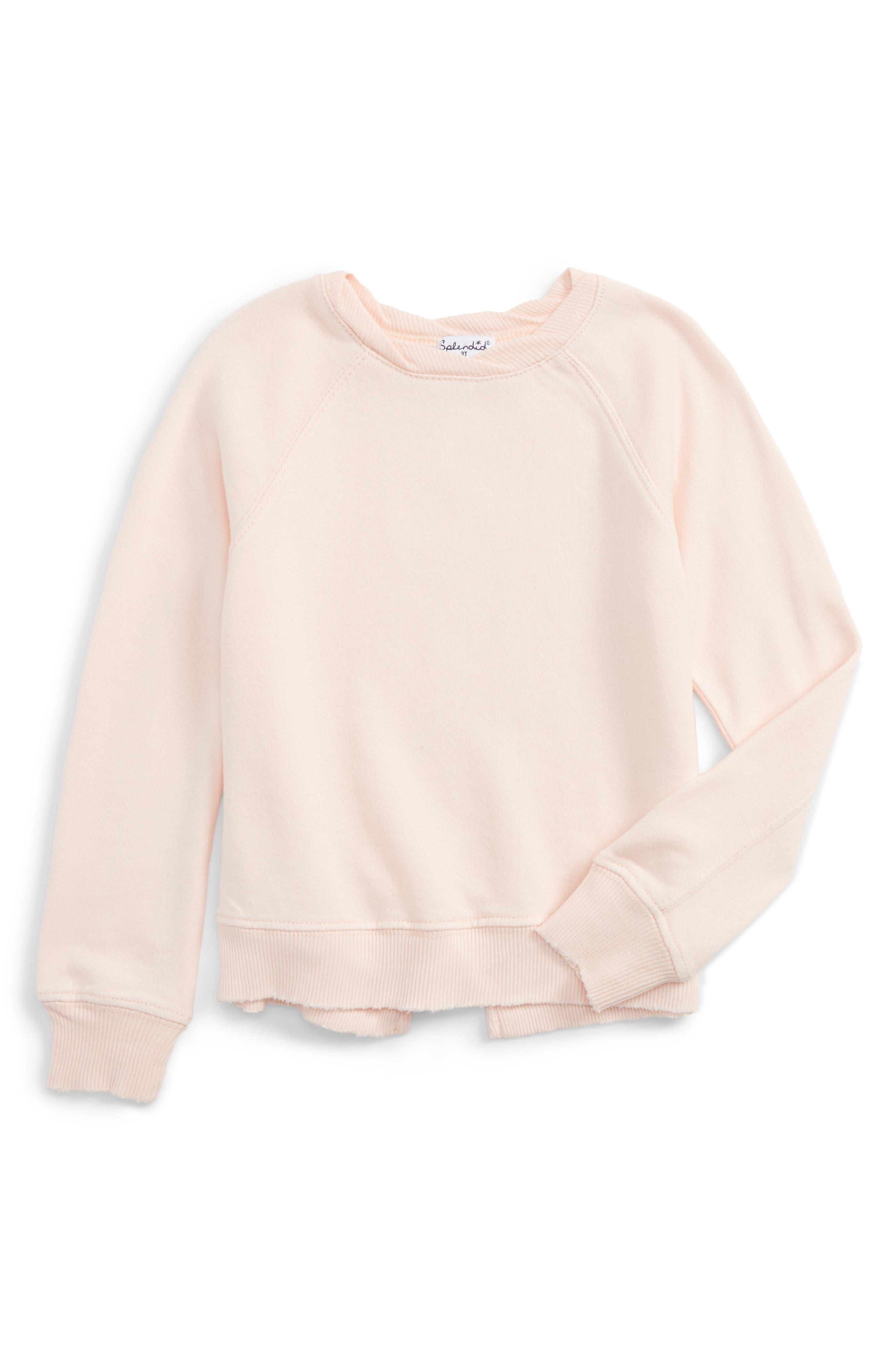 Splendid Distressed Hem Sweatshirt (Little Girls)