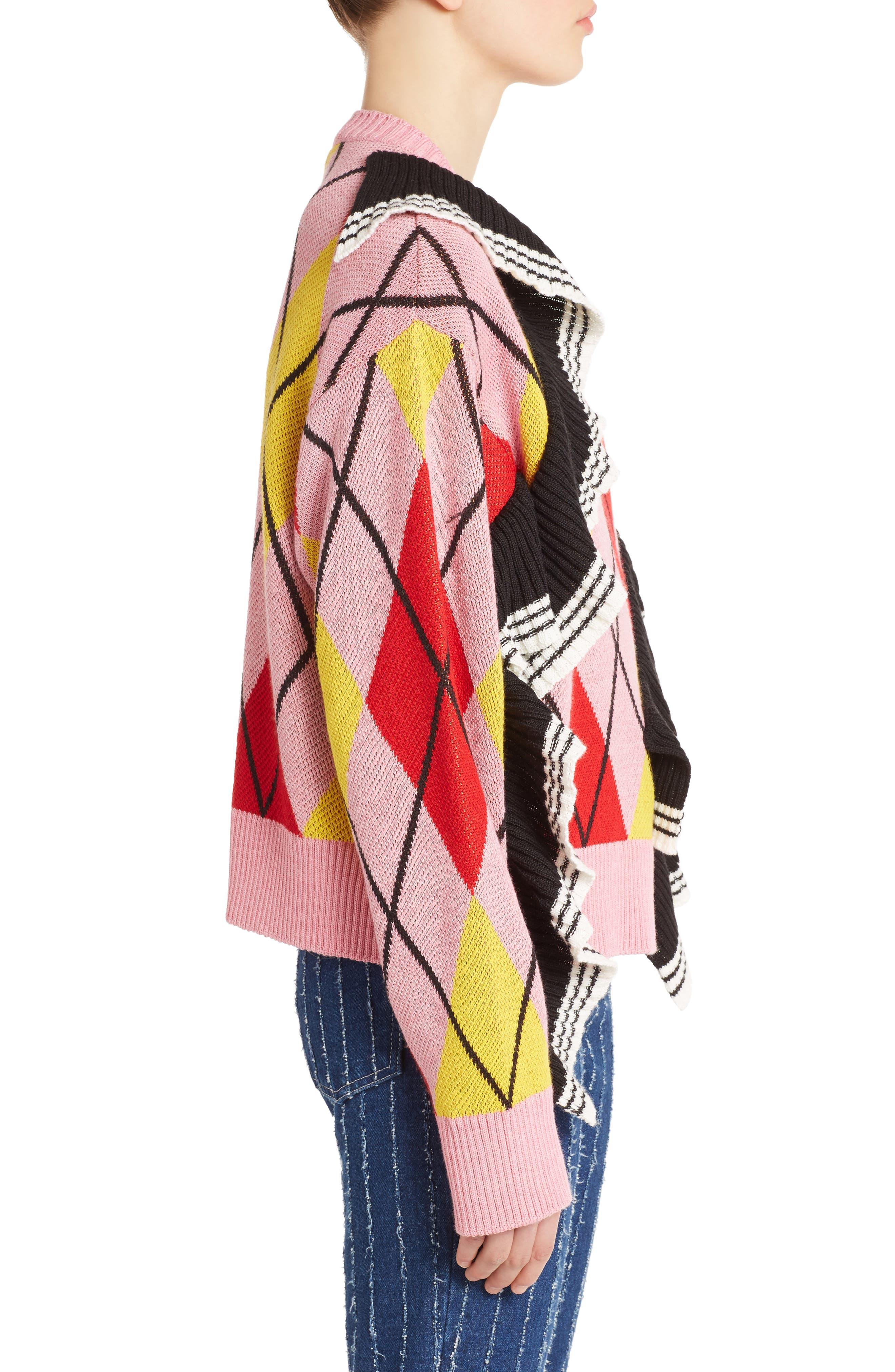 Alternate Image 4  - MSGM Argyle Ruffle Sweater