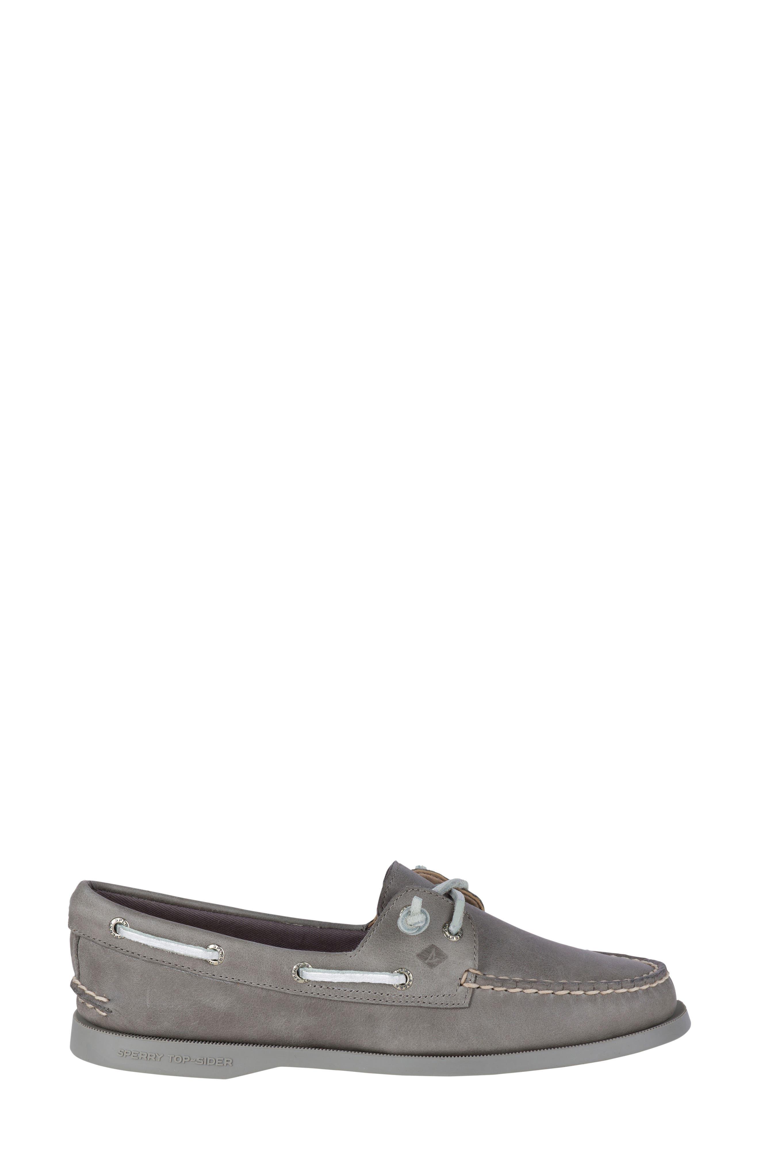 Vida Boat Shoe,                             Alternate thumbnail 3, color,                             Driftwood Leather