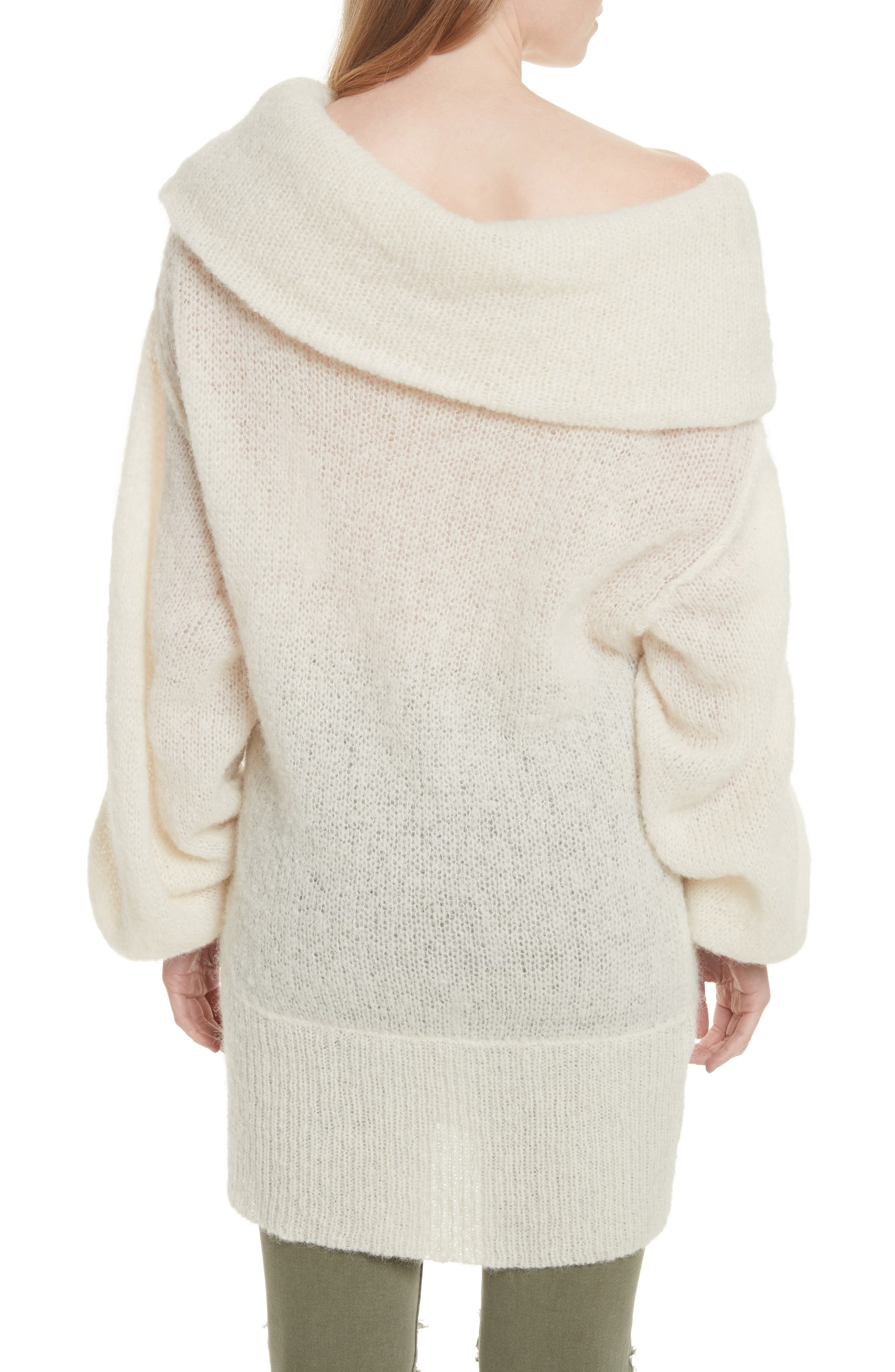 Ophelia Off the Shoulder Sweater,                             Alternate thumbnail 2, color,                             Ivory
