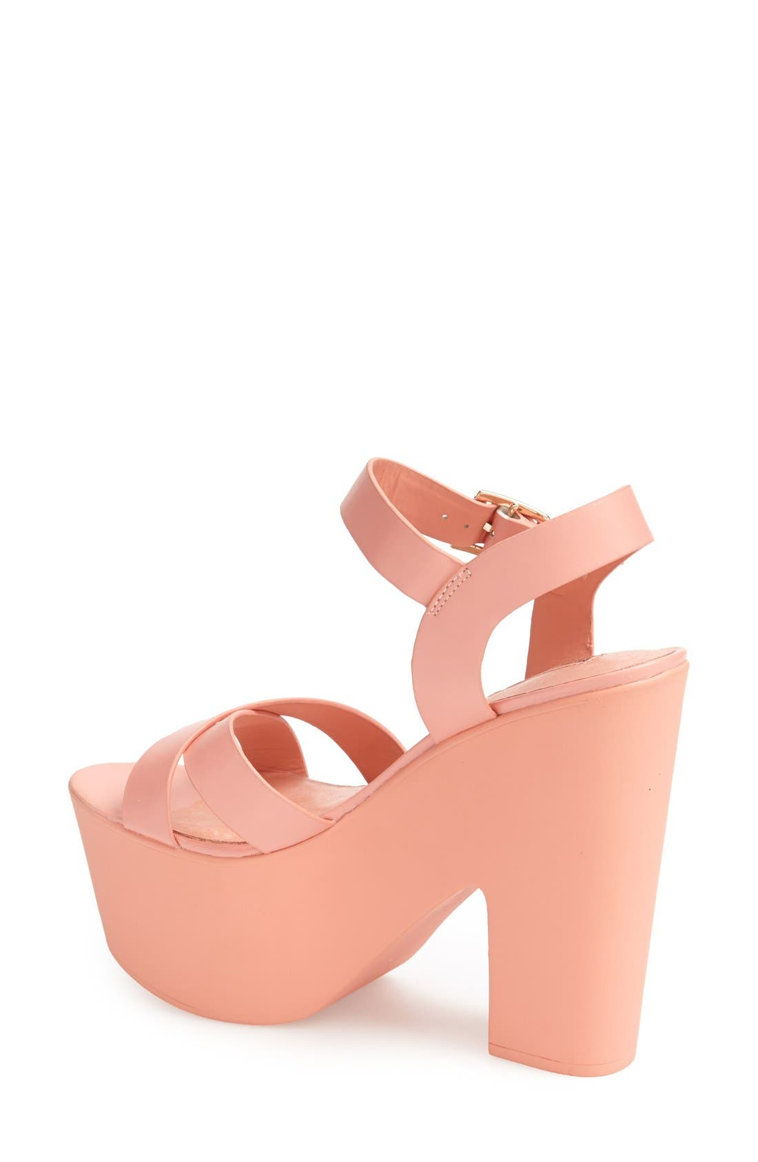 Alternate Image 2  - Topshop 'Launch' Ankle Strap Platform Sandal (Women)