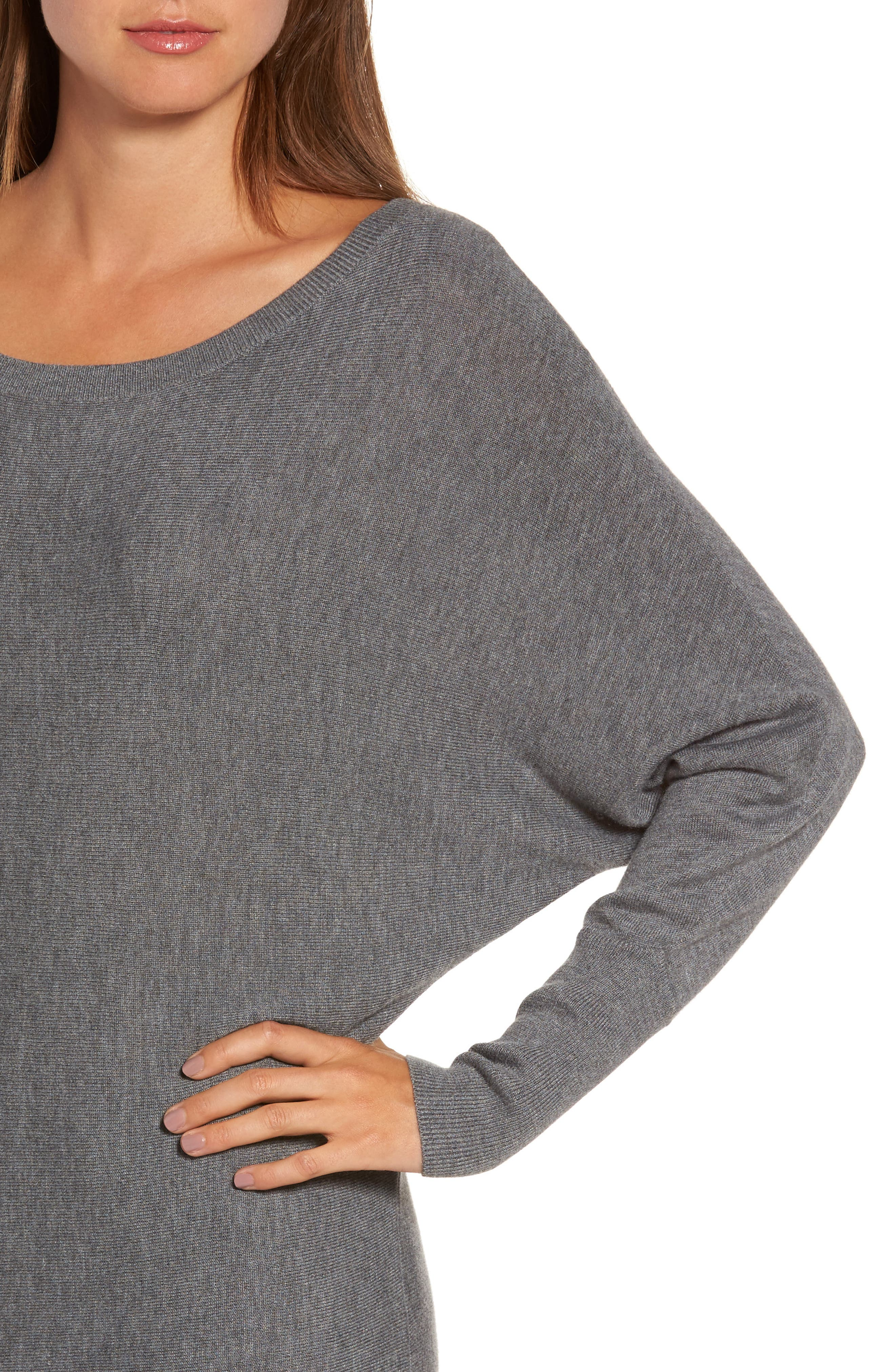 Alternate Image 4  - Trouvé Off the Shoulder Sweater Tunic