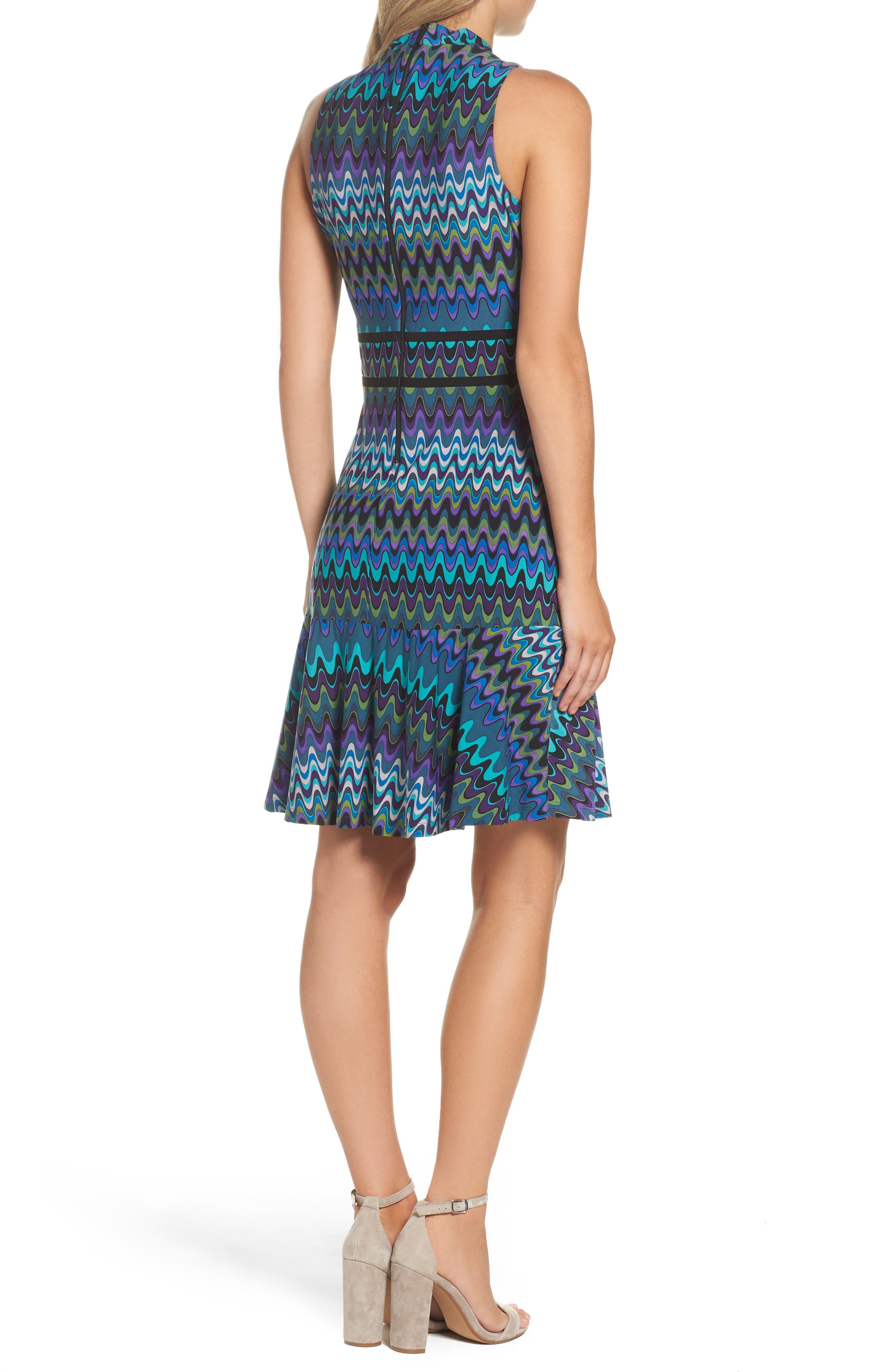 Sleeveless Jersey Sheath Dress,                             Alternate thumbnail 2, color,                             Peacock