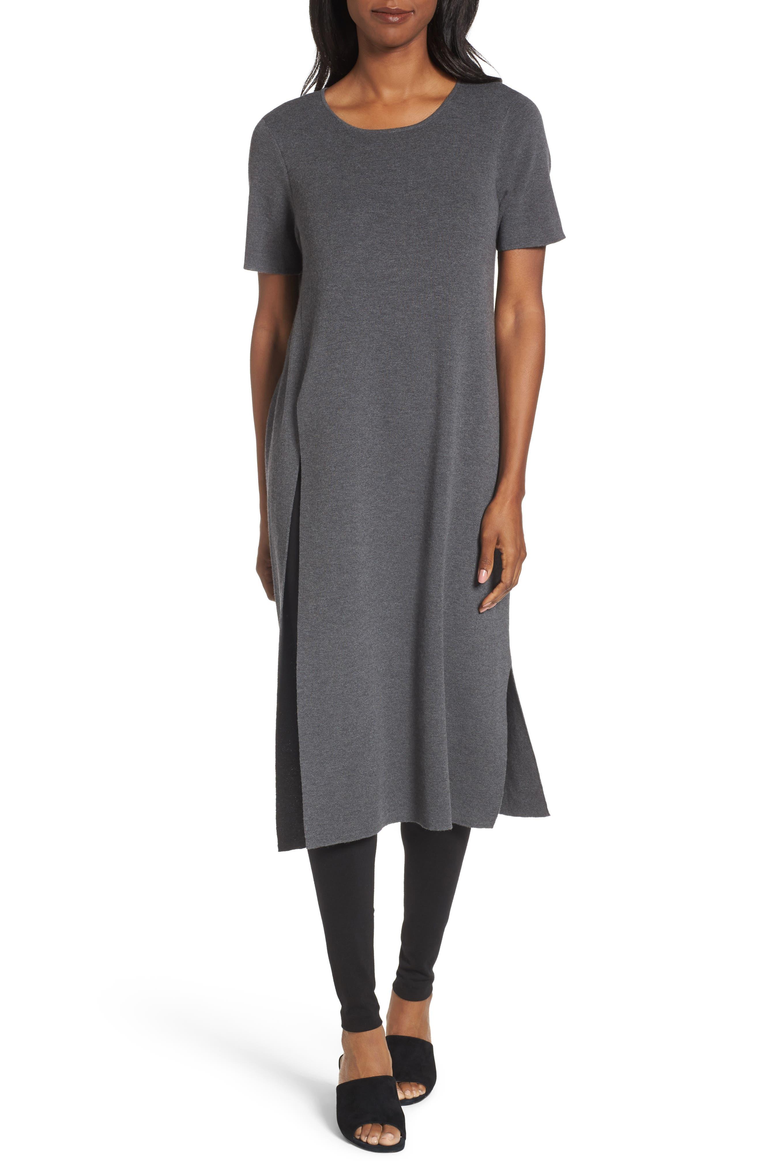 Main Image - Eileen Fisher Long Wool Knit Tunic