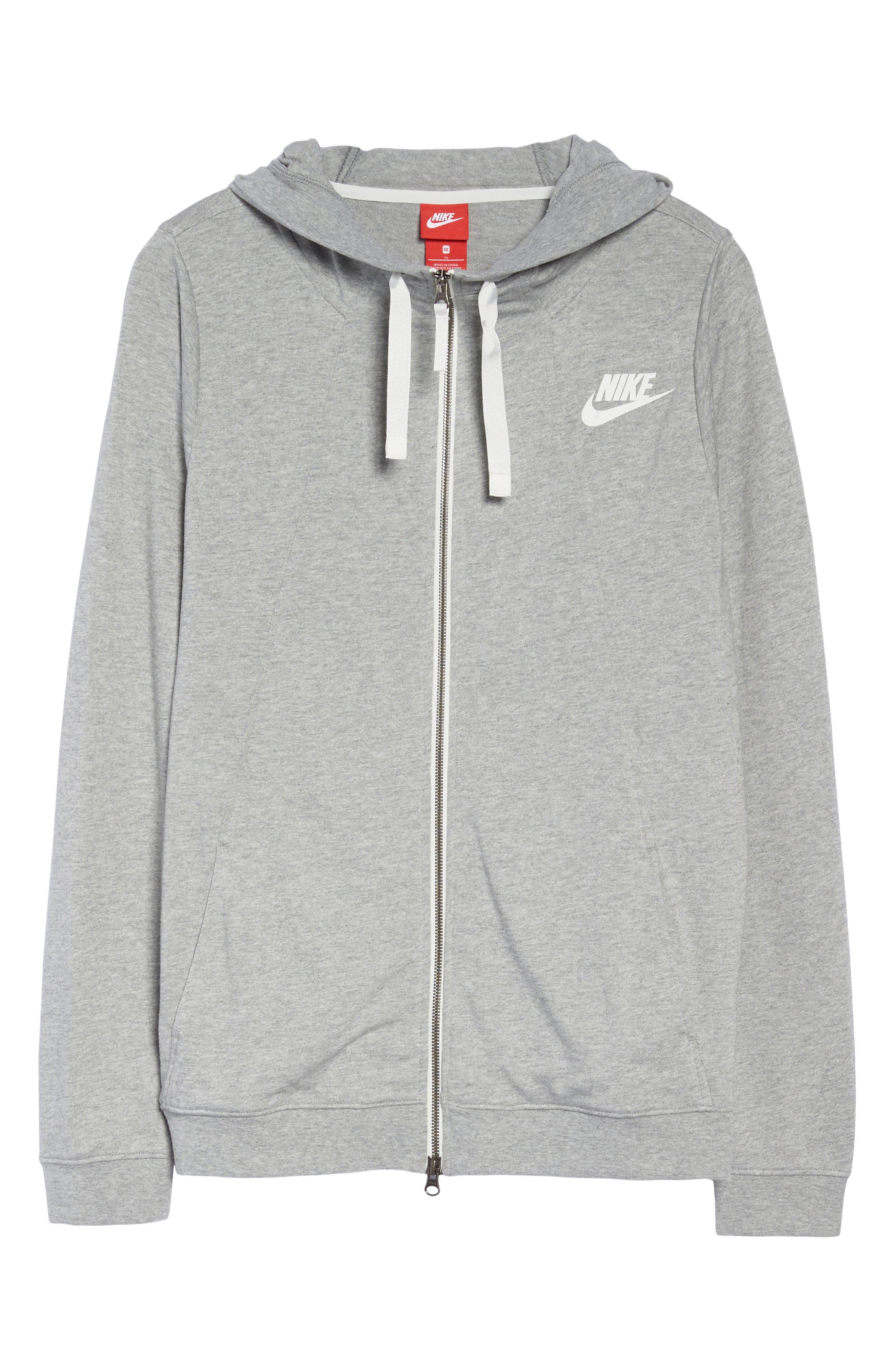 Alternate Image 6  - Nike Sportswear Gym Classic Hoodie (Plus Size)