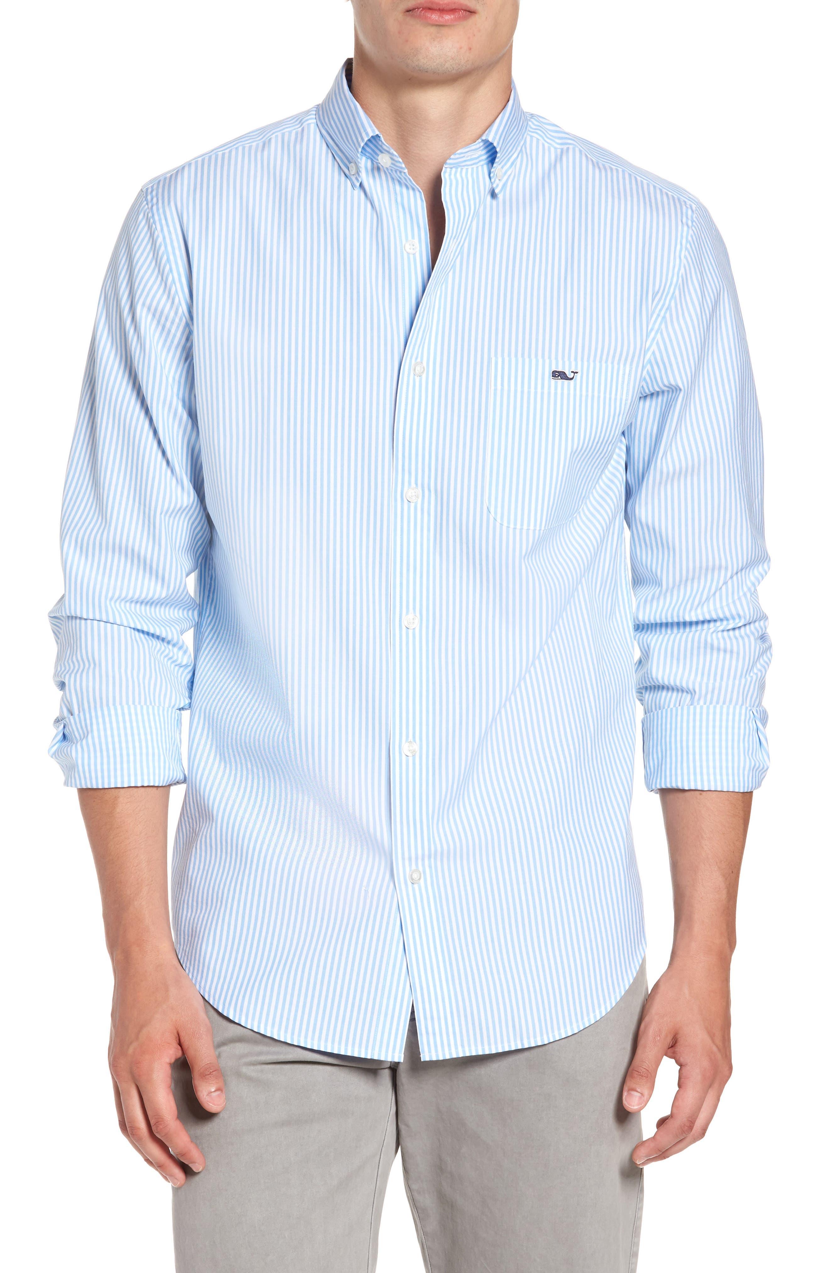 Alternate Image 1 Selected - vineyard vines Swordfish Stripe Tucker Sport Shirt