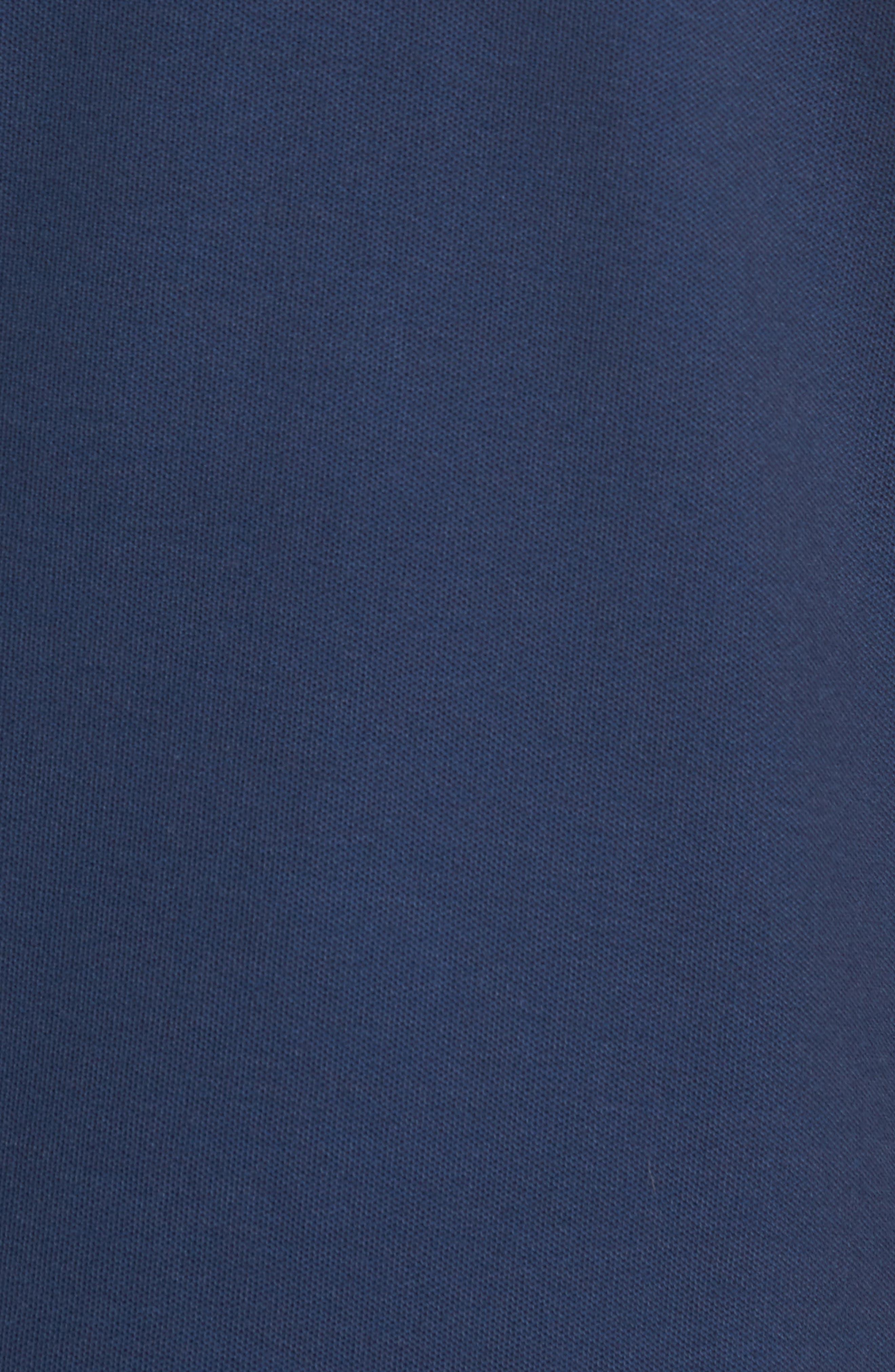 Reverse Oxford Quarter Zip Pullover,                             Alternate thumbnail 5, color,                             Vineyard Navy
