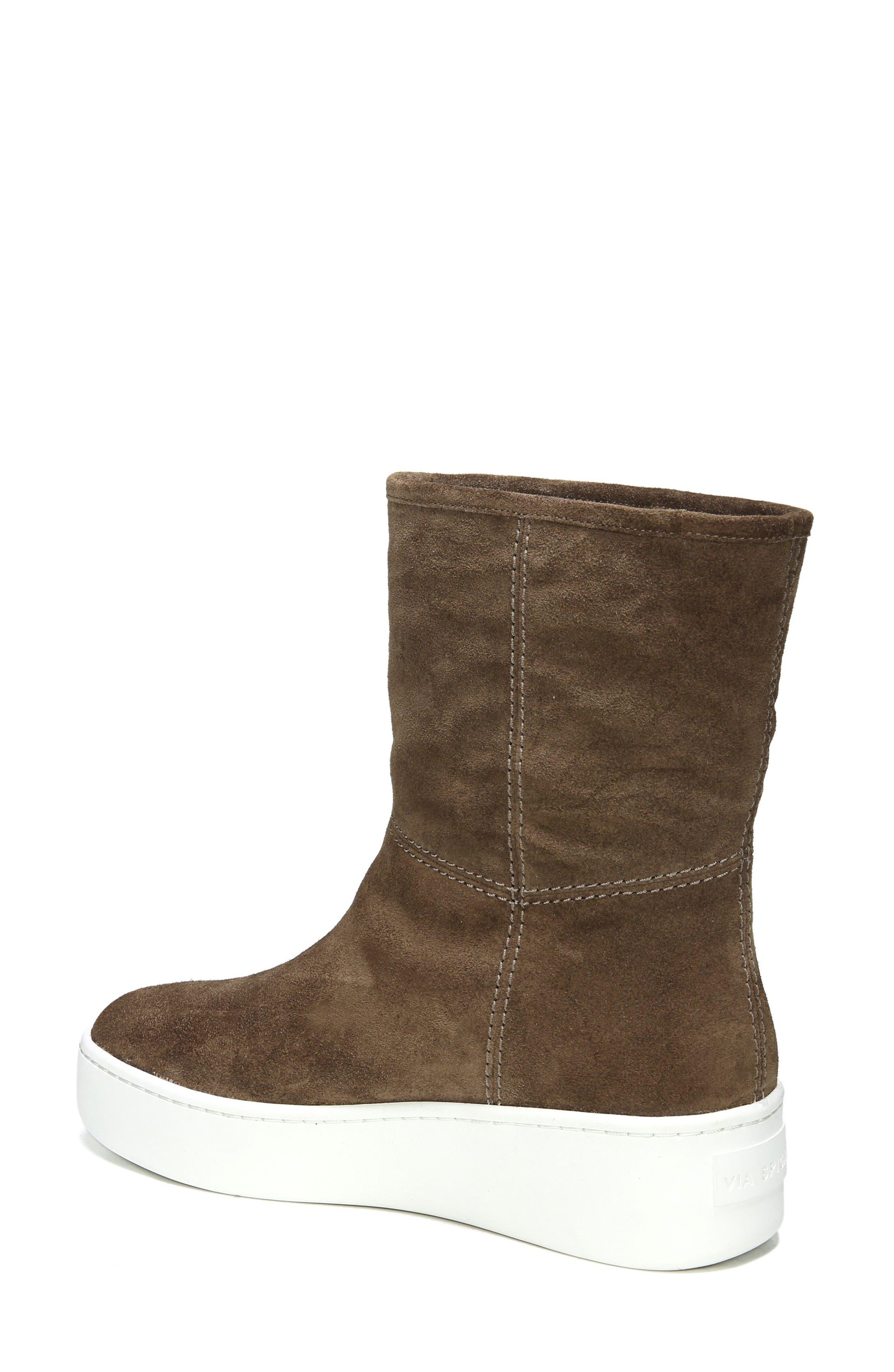Elona Genuine Shearling Lined Sneaker Boot,                             Alternate thumbnail 2, color,                             Bark Suede