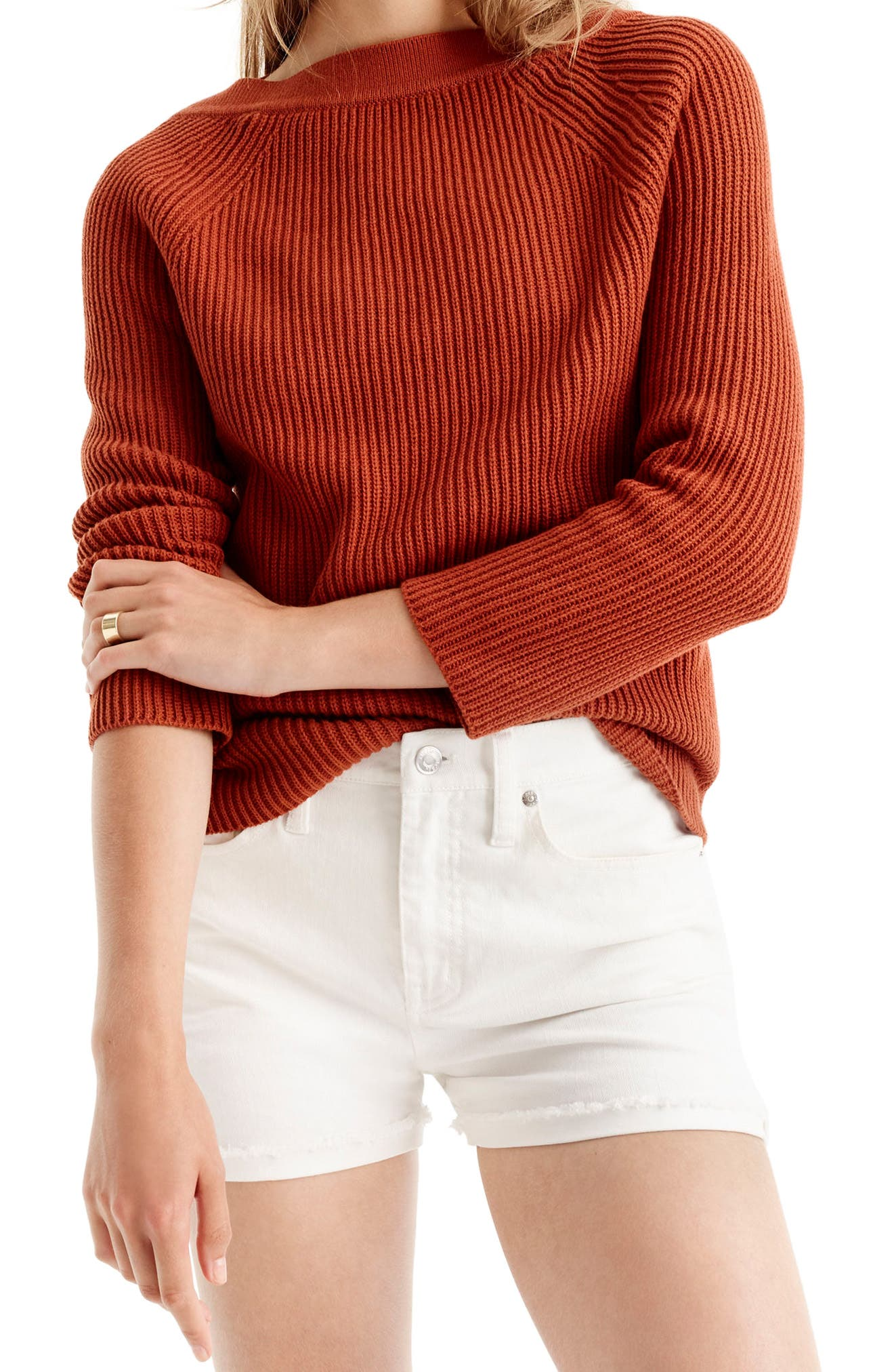 Alternate Image 2  - J.Crew Relaxed Cotton Boatneck Sweater