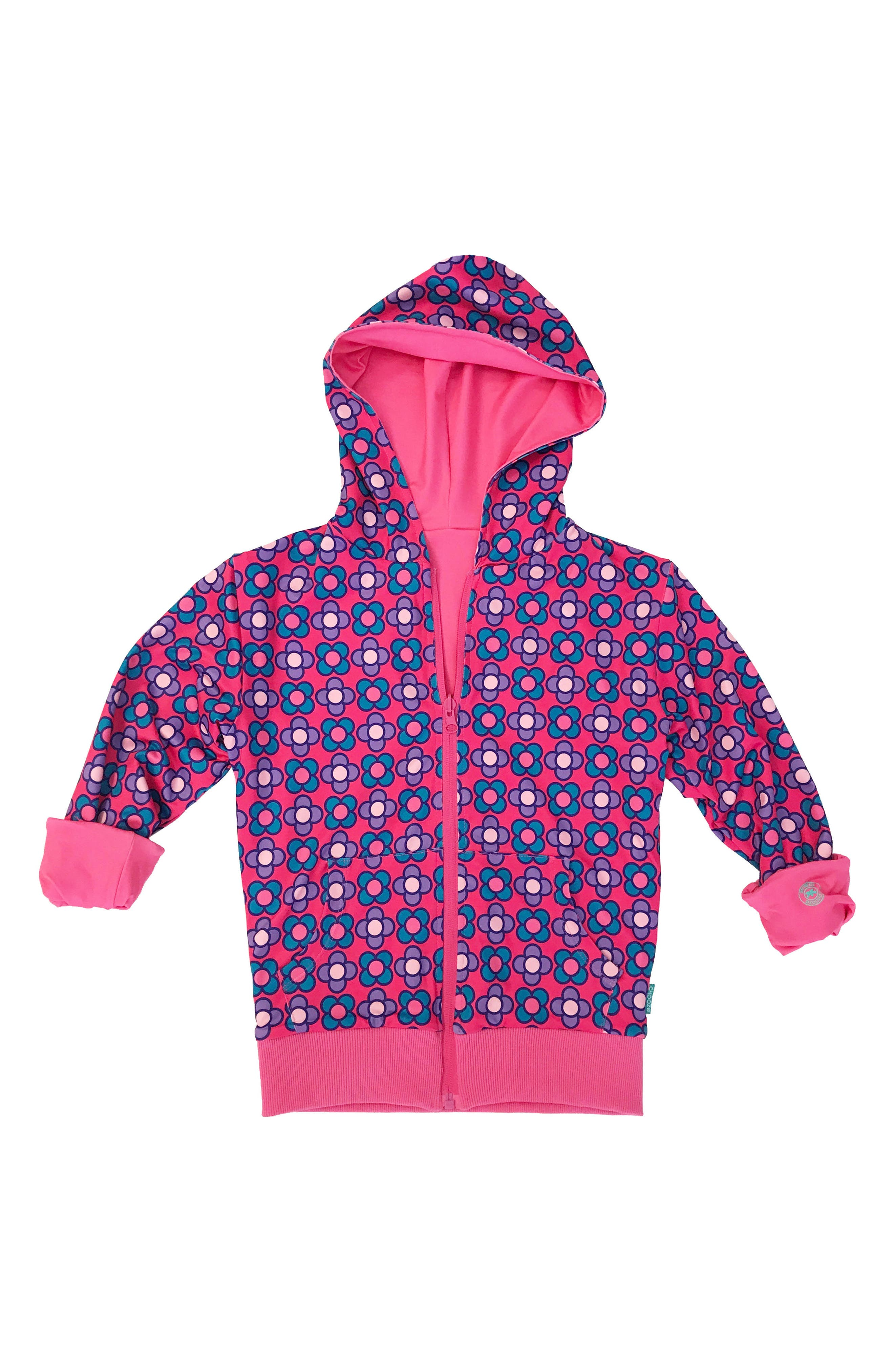 CHOOZE Duo Reversible Zip Hoodie (Little Girls & Big Girls)