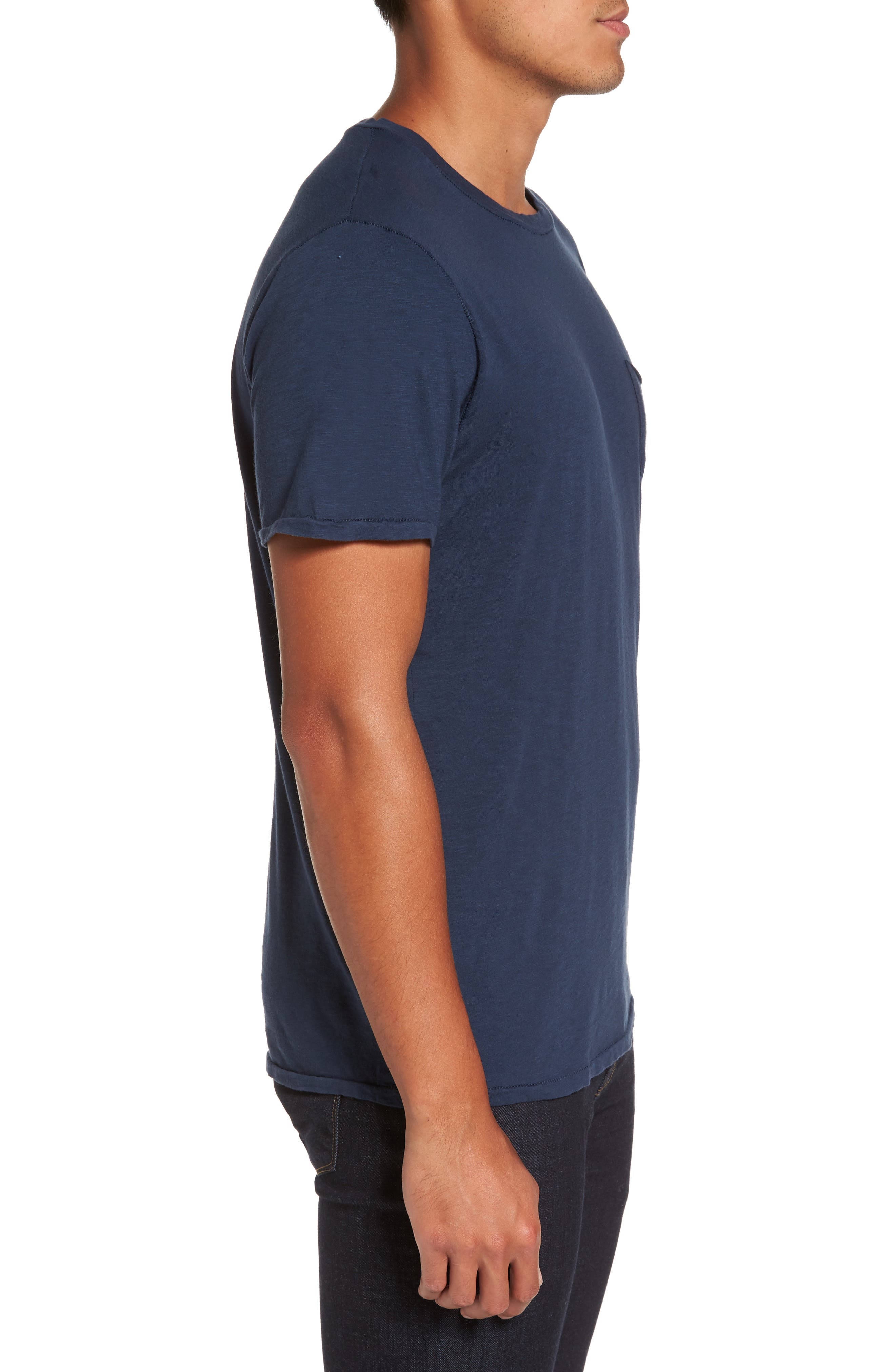 Chase Classic Crewneck T-Shirt,                             Alternate thumbnail 3, color,                             Navy