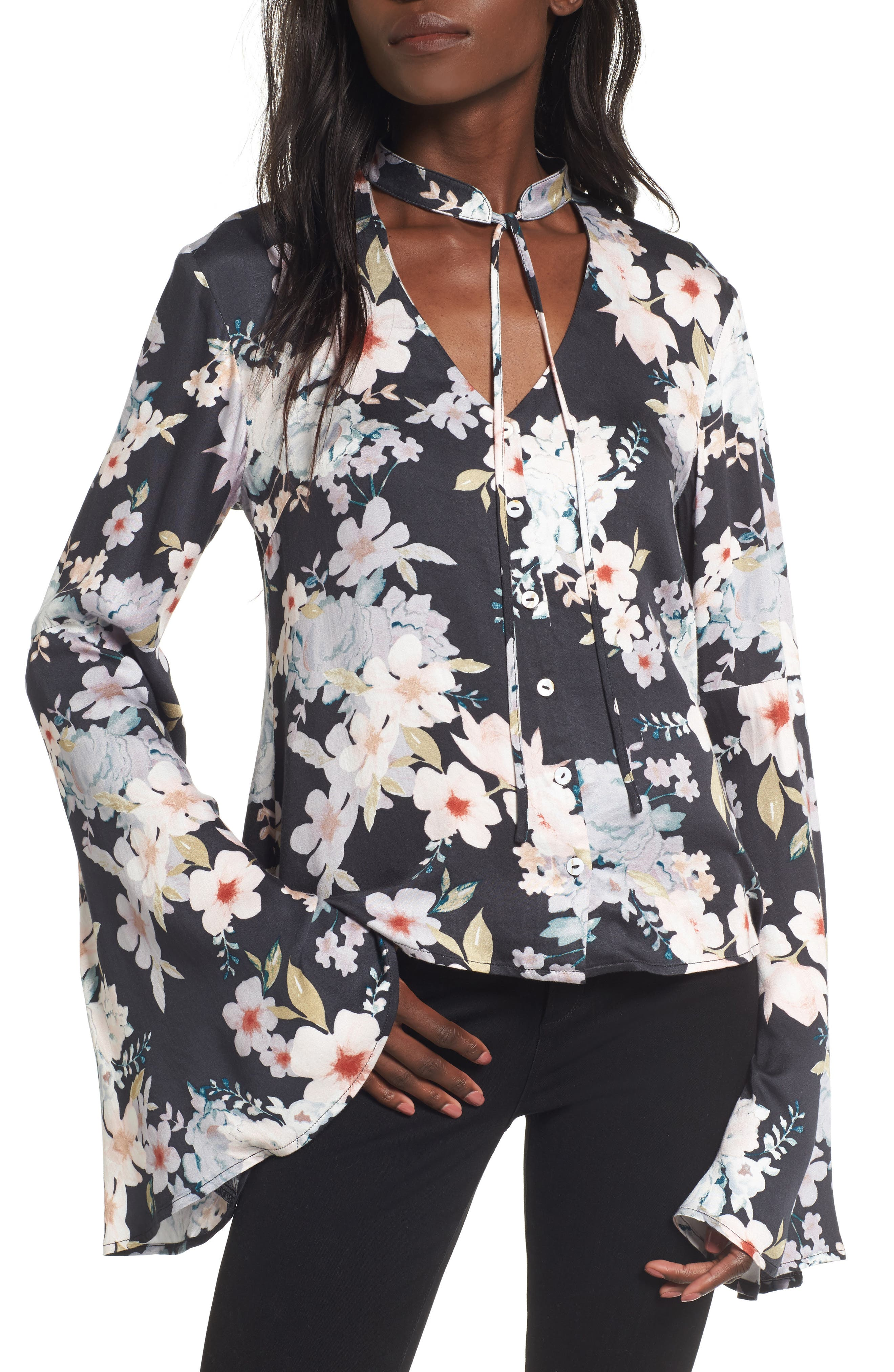 Mystic Nights Floral Blouse,                         Main,                         color, Multi