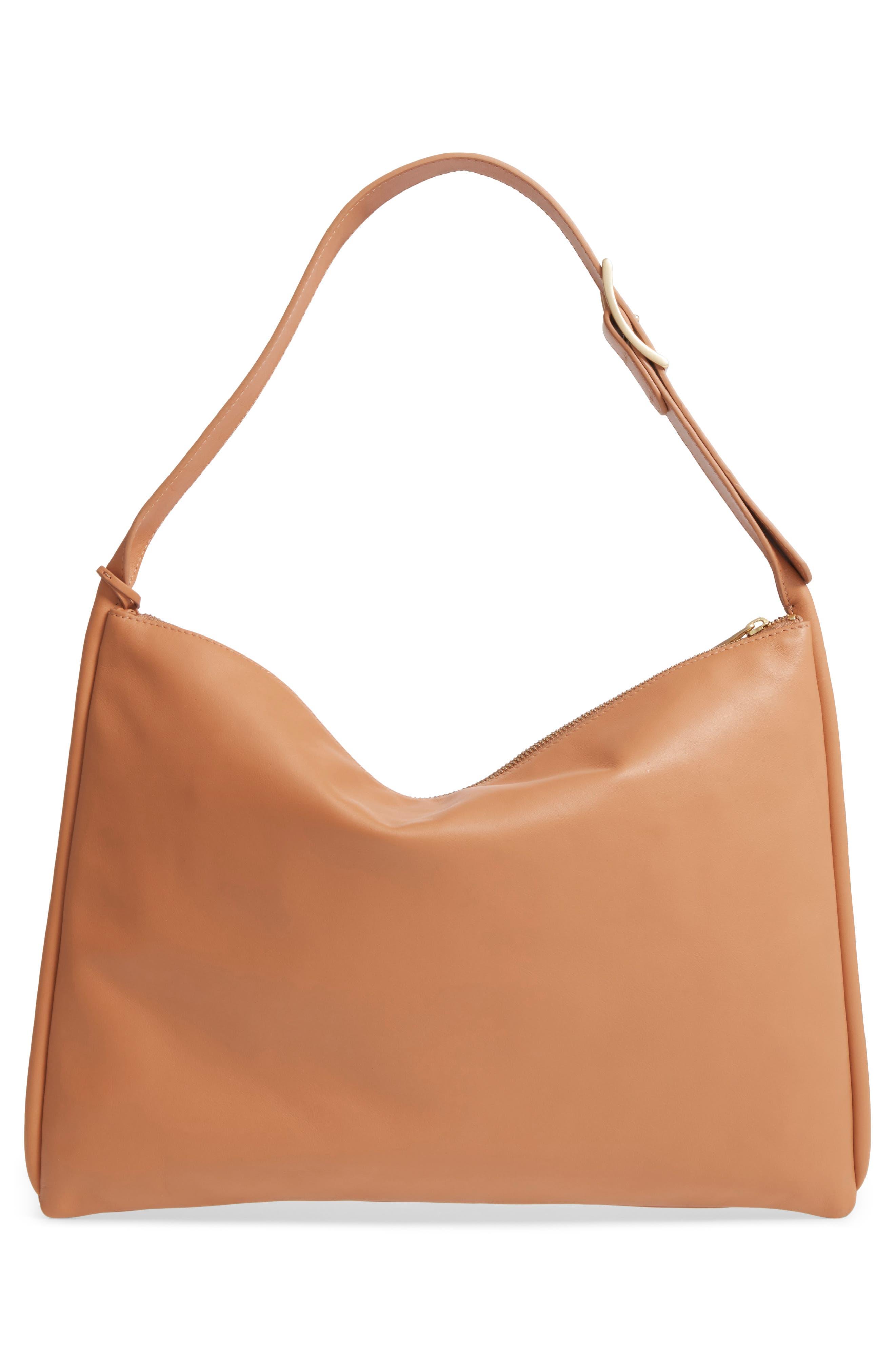 Anesa Leather Shoulder Bag,                             Alternate thumbnail 3, color,                             Tan