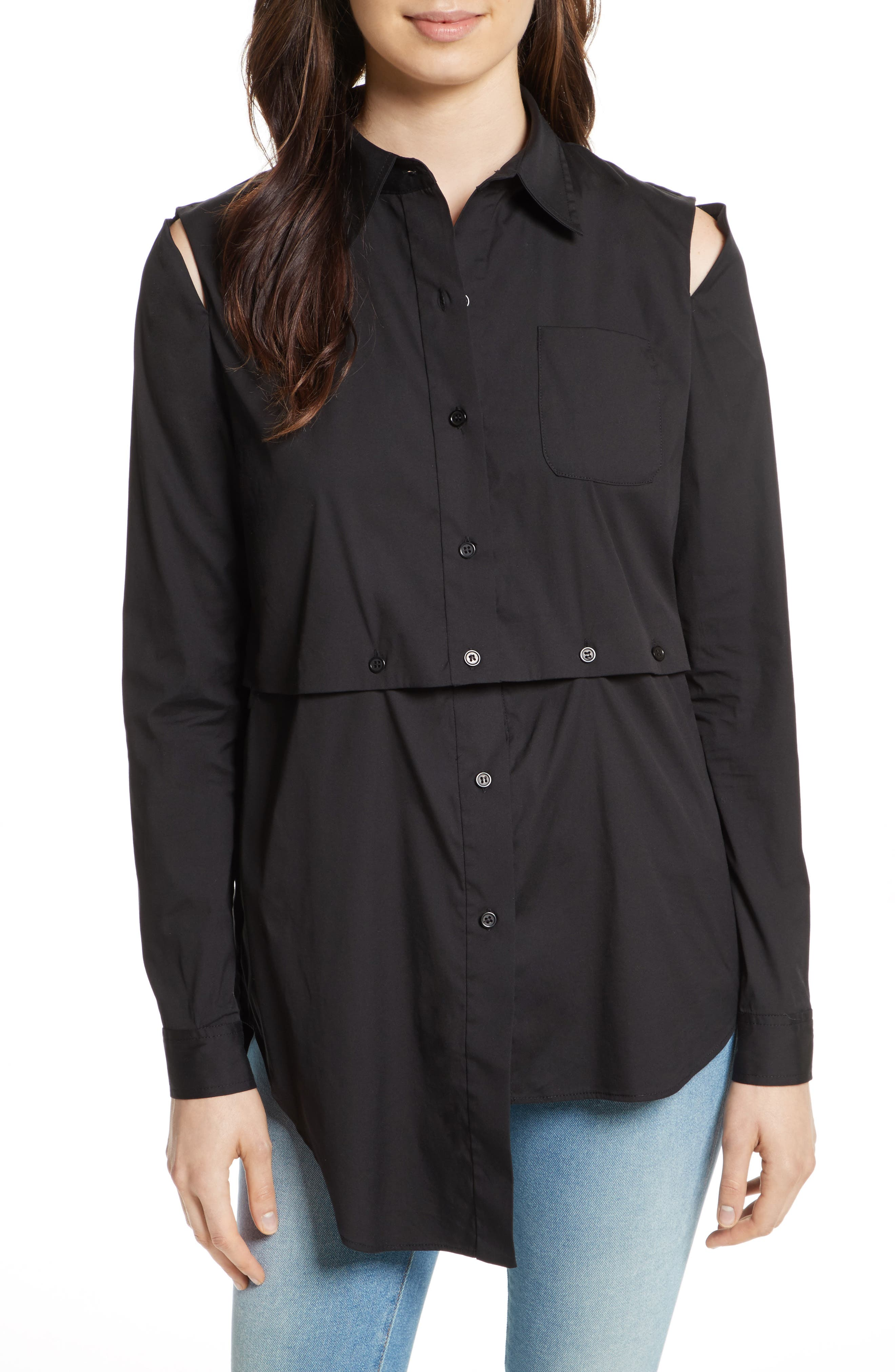Milly Fractured Poplin Blouse
