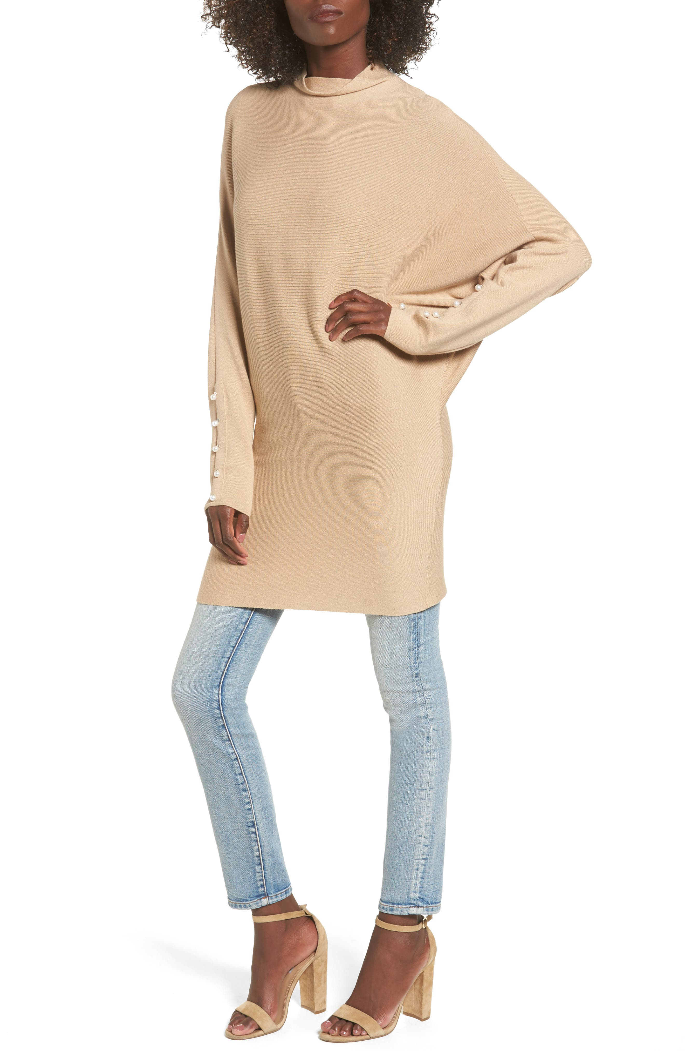 Dolman Sleeve Sweater,                             Main thumbnail 1, color,                             Tan Nomad