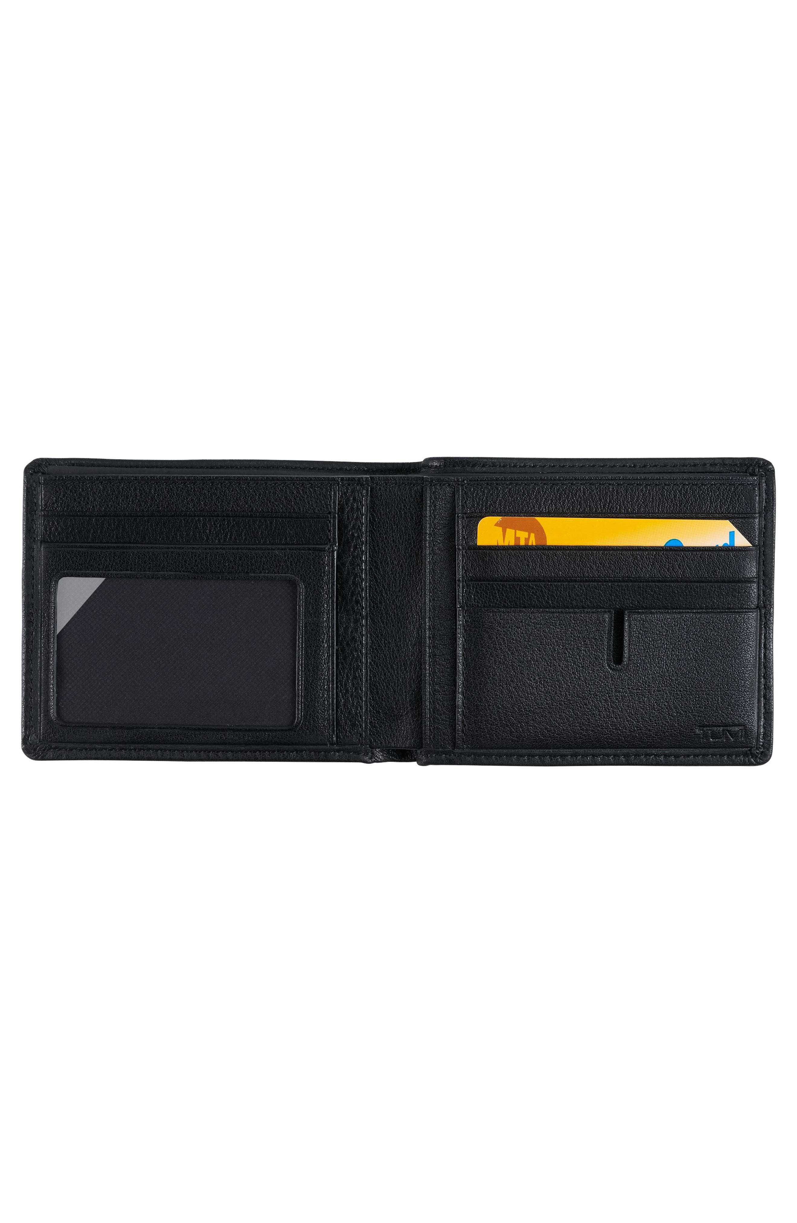 Global Leather RFID Wallet,                             Alternate thumbnail 2, color,                             Black Textured