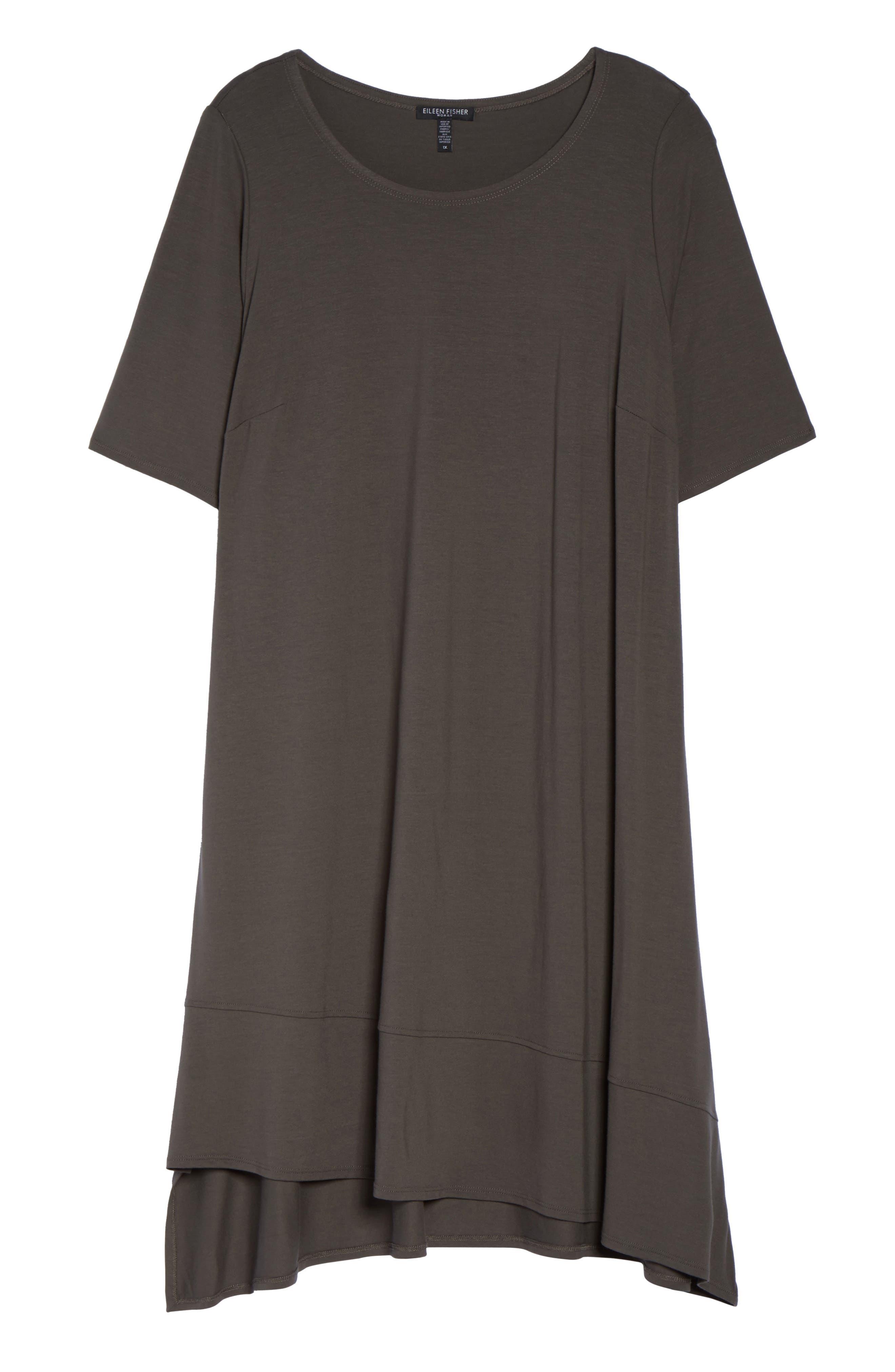 Alternate Image 6  - Eileen Fisher Jersey Shift Dress (Plus Size)