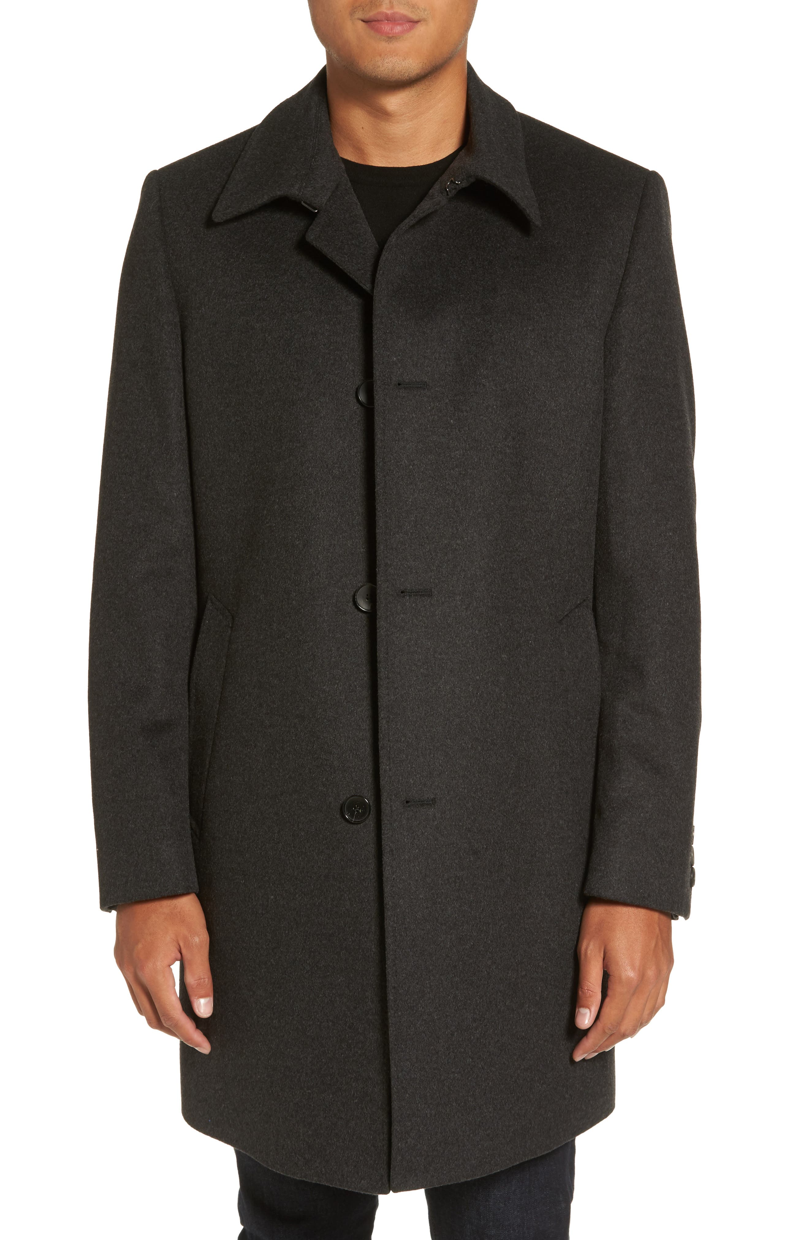 BOSS Task Wool & Cashmere Top Coat