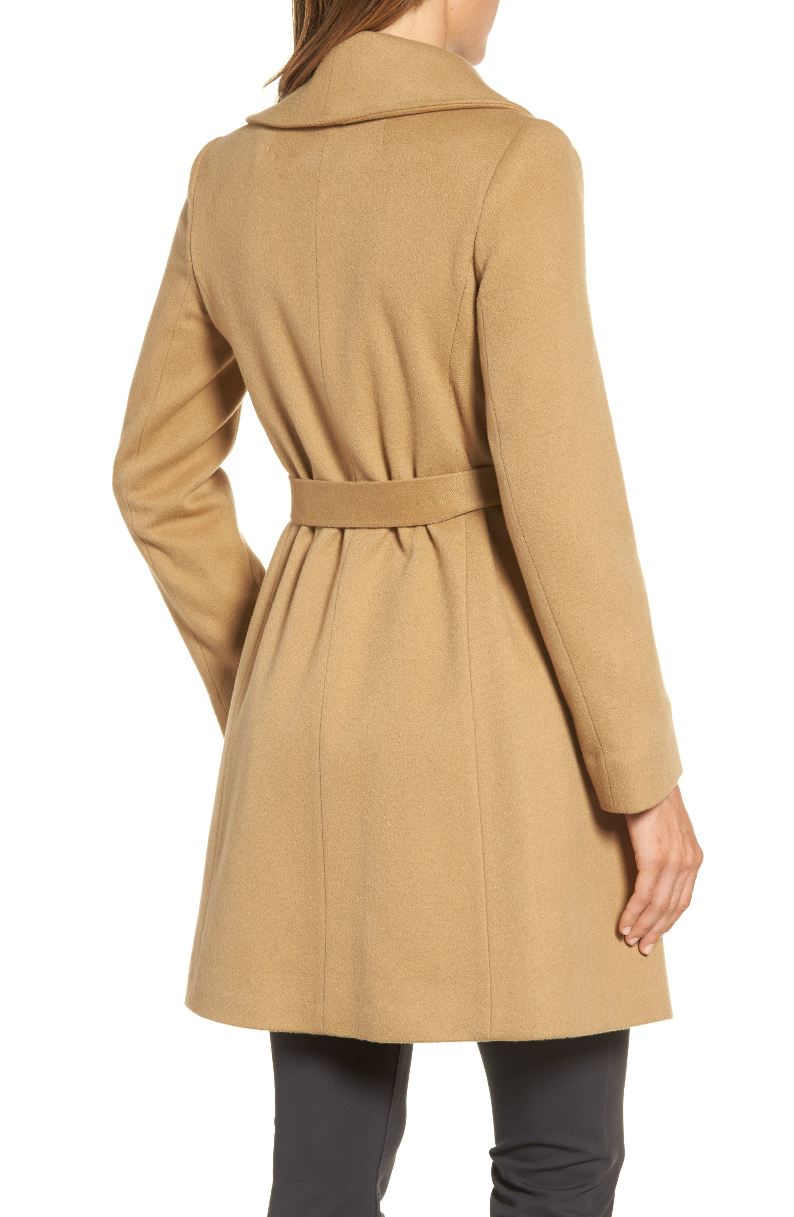 Alternate Image 2  - Fleurette Shawl Collar Cashmere Wrap Coat