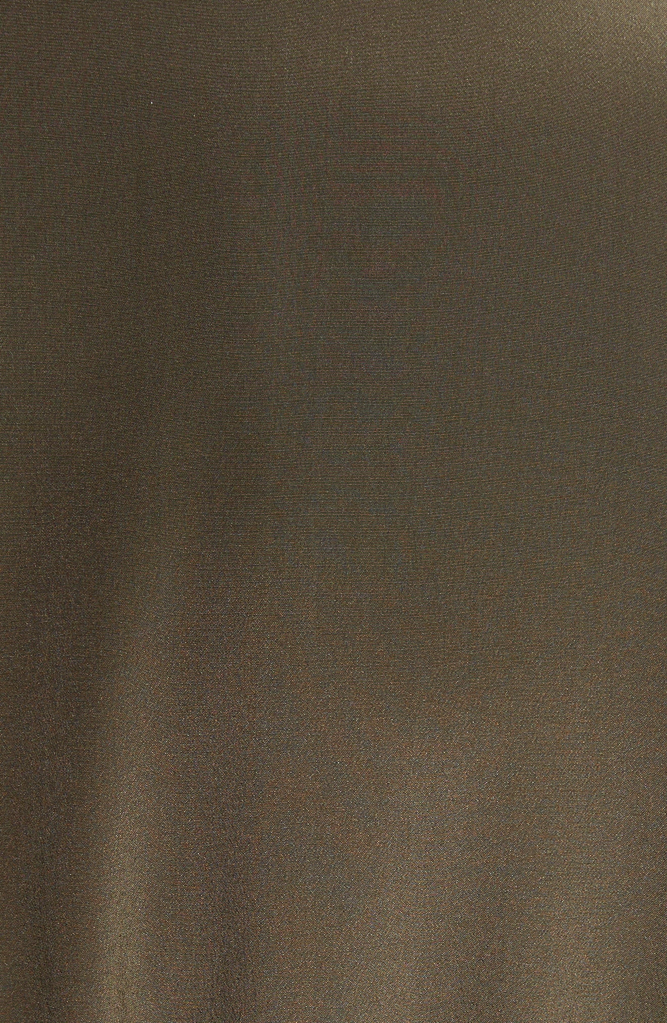 Ribbed Detail Silk Handkerchief Dress,                             Alternate thumbnail 5, color,                             Moss