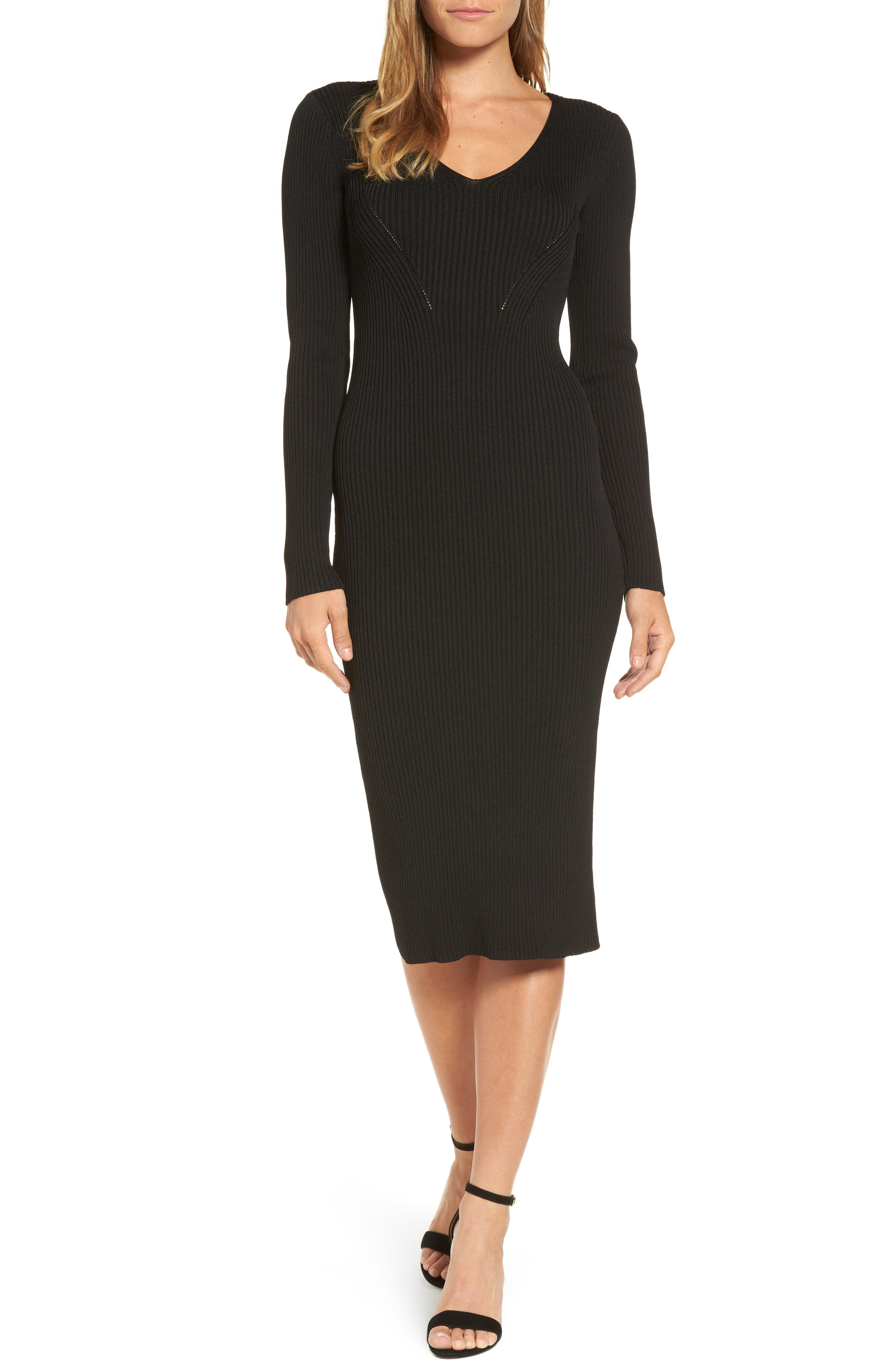 Alternate Image 1 Selected - MICHAEL Michael Kors Ribbed Sweater Dress