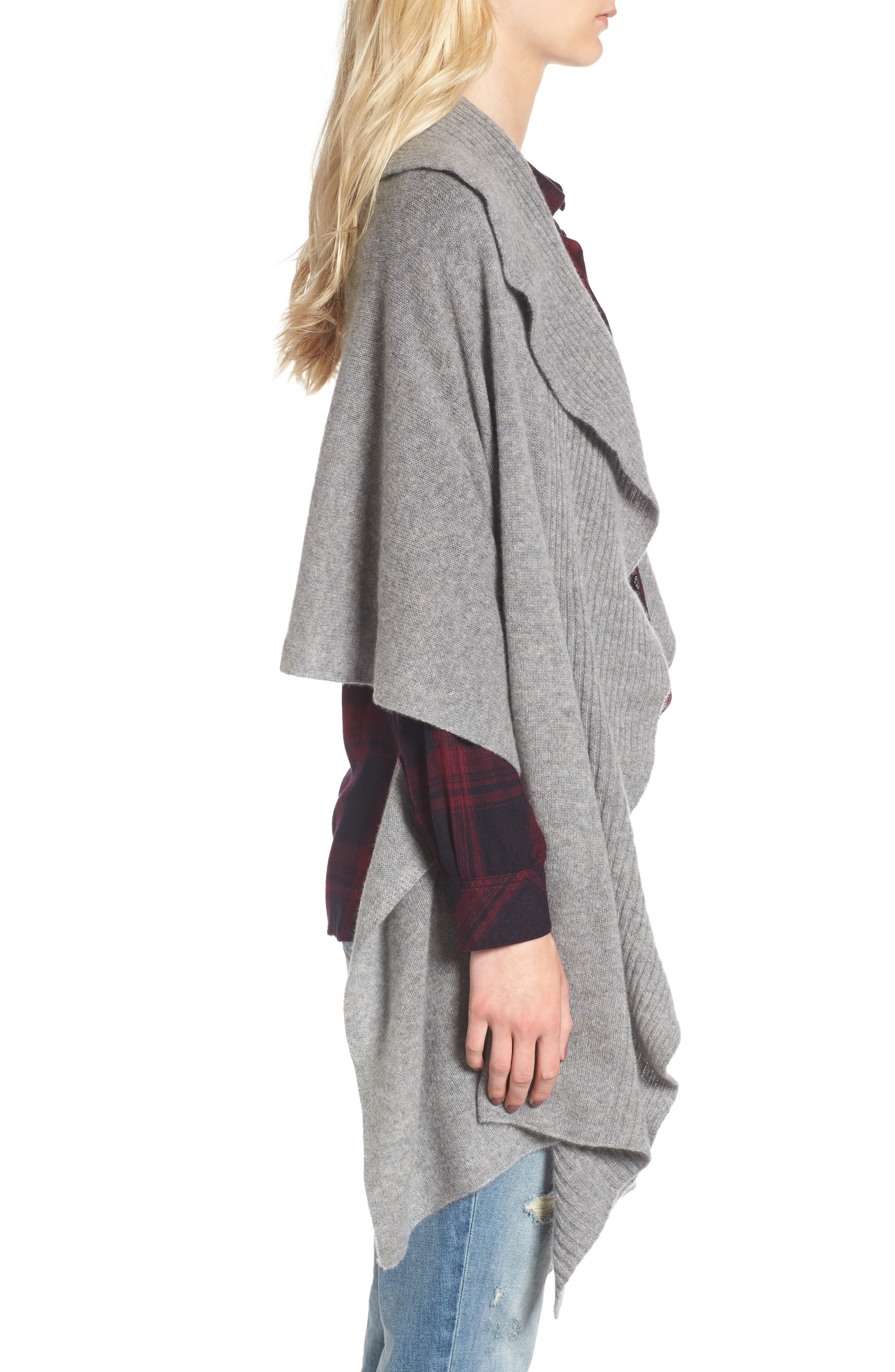 Alternate Image 3  - Nordstrom Cashmere Ruffle Wrap