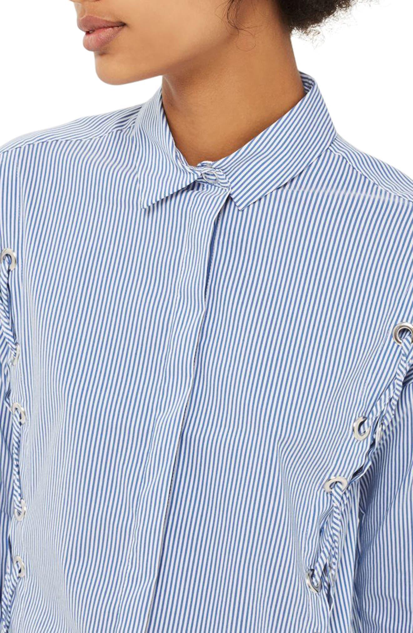 Alternate Image 5  - Topshop Side Lace-Up Shirt