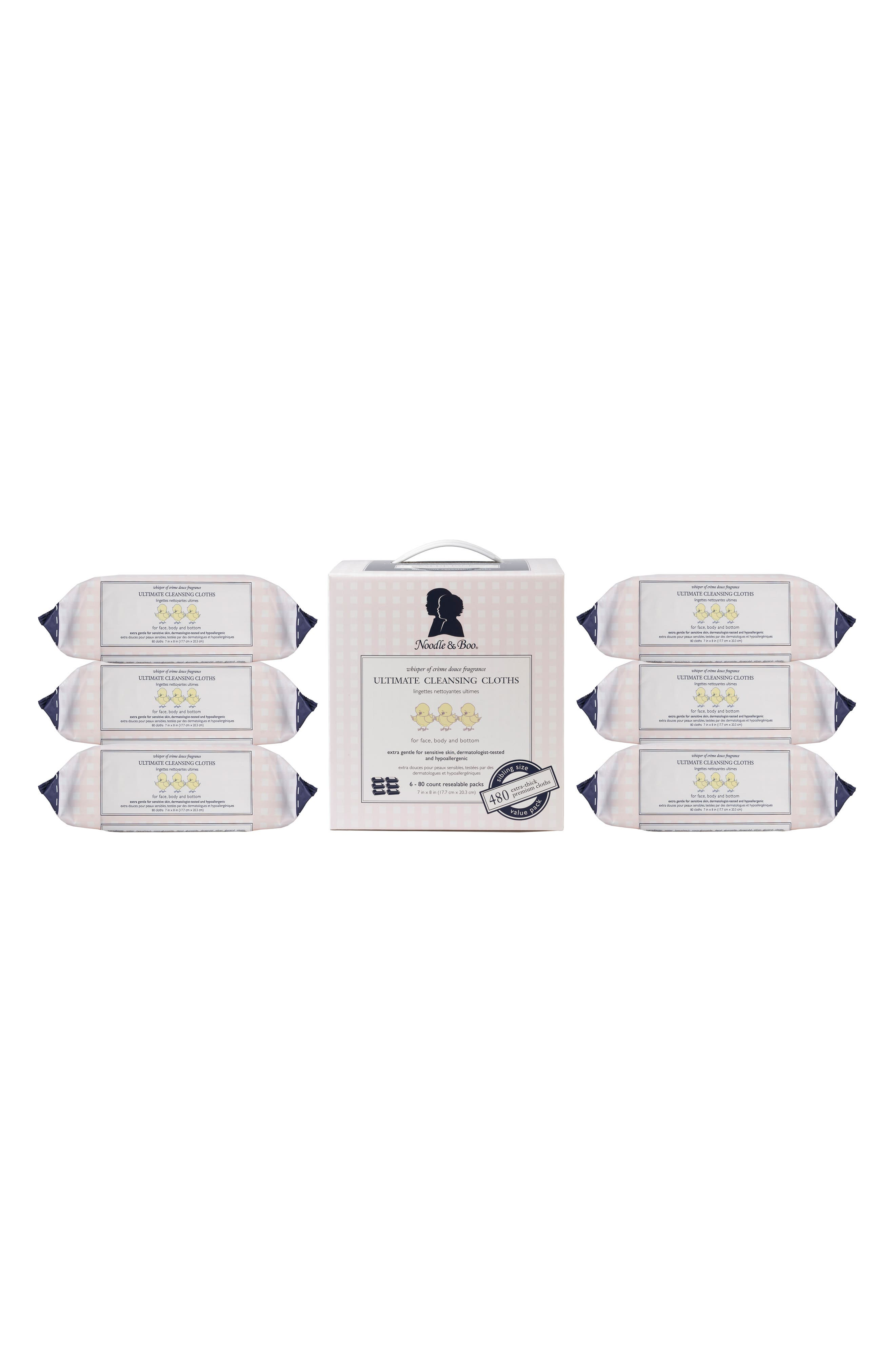 6-Pack Ultimate Cleansing Cloths,                             Alternate thumbnail 3, color,                             White