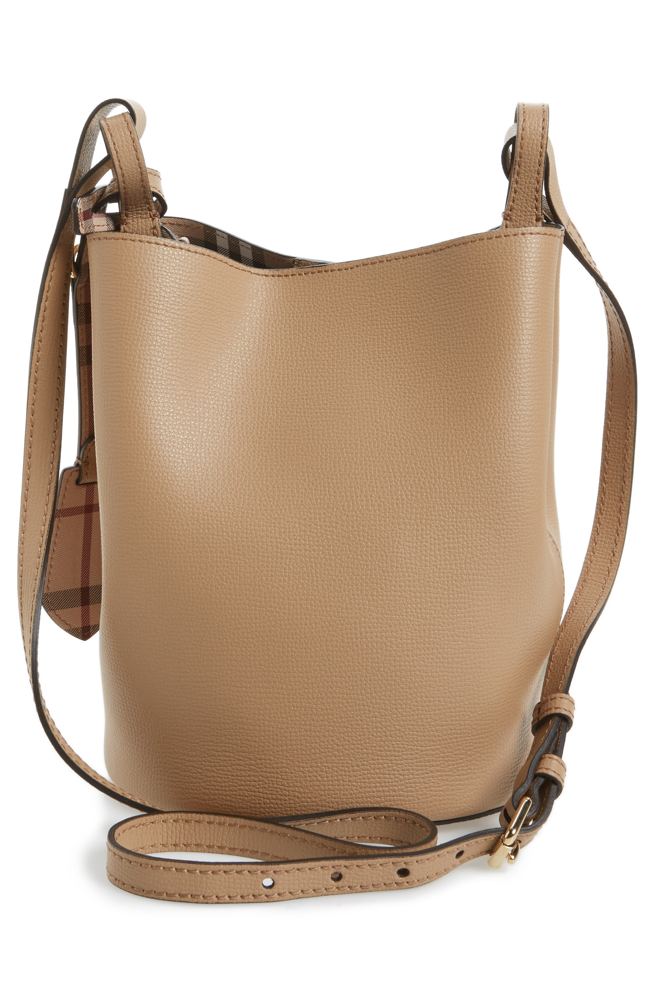 Alternate Image 3  - Burberry Small Lorne Leather Bucket Bag