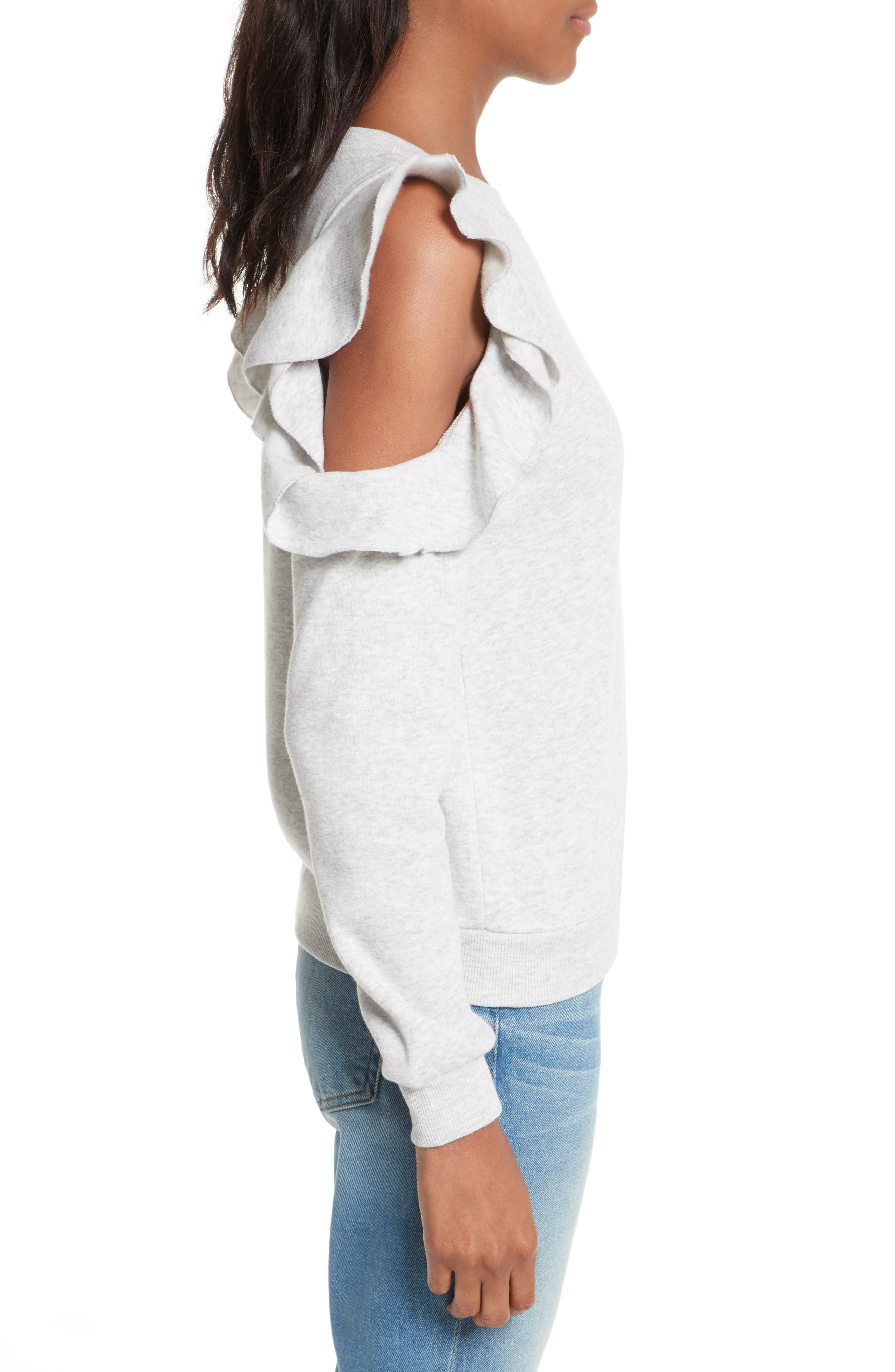 Alternate Image 4  - Rebecca Minkoff Gracie Cold Shoulder Sweatshirt