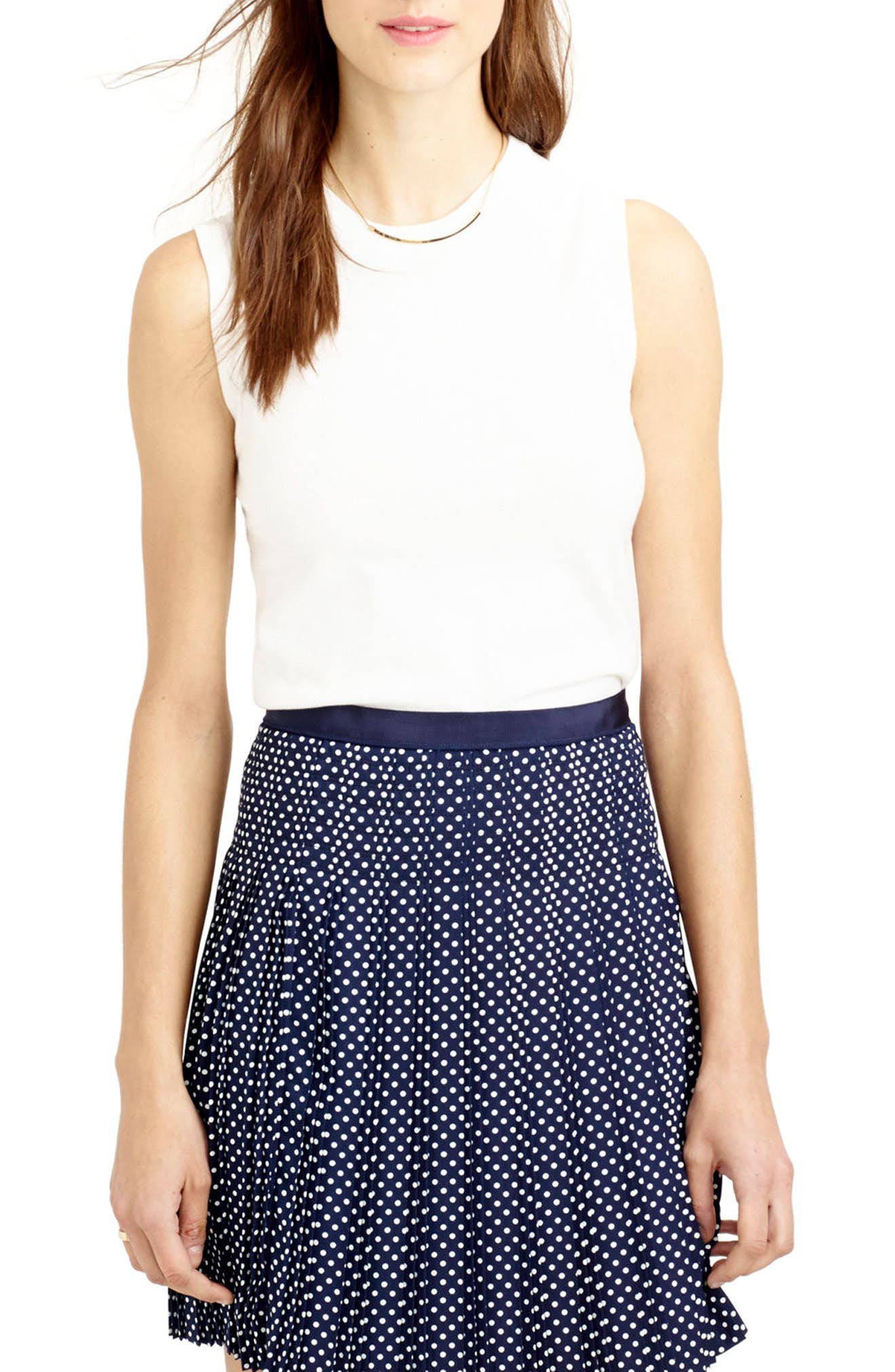 J.Crew Jackie Cotton Blend Shell