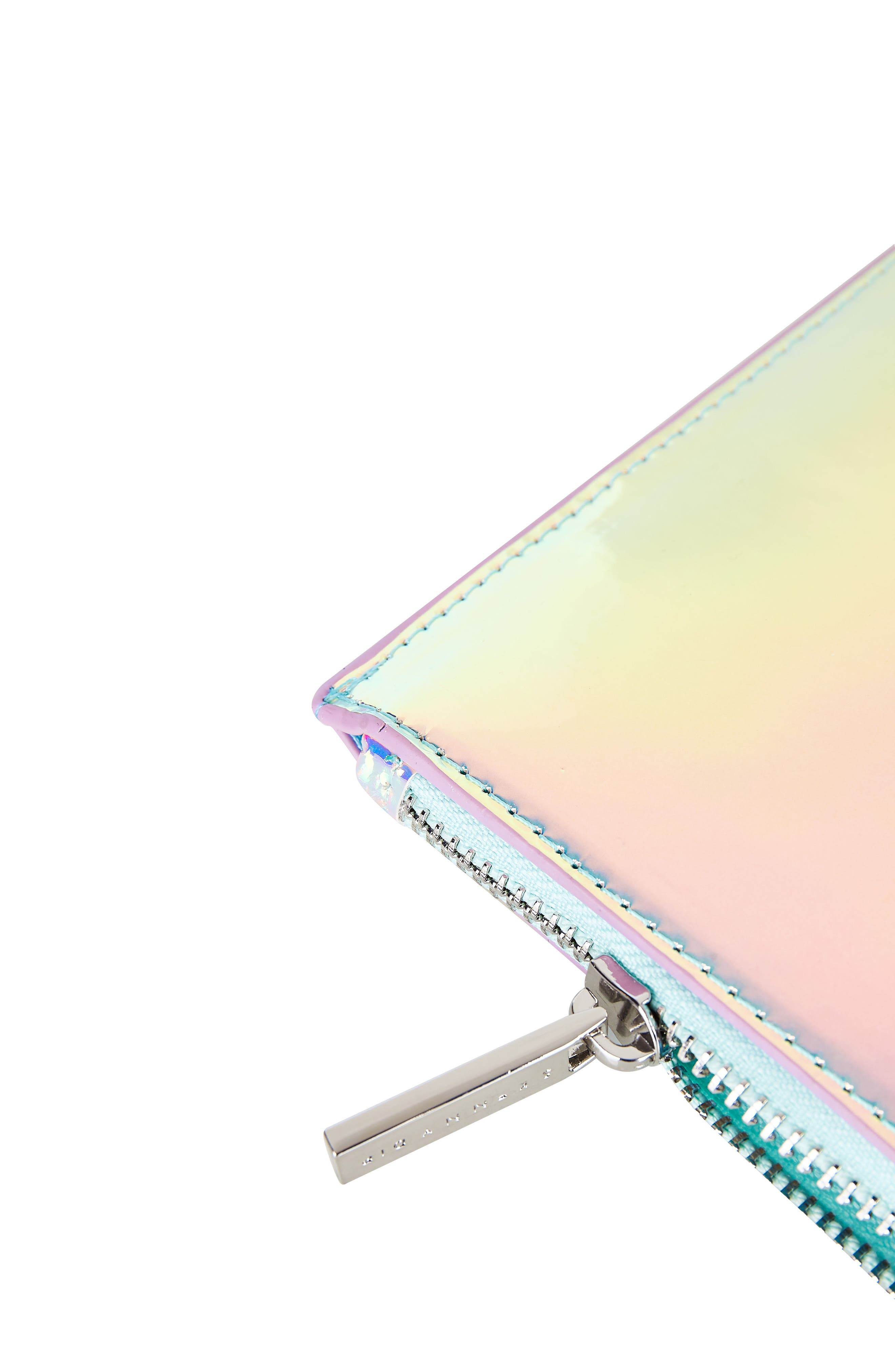 Skinny Dip Ocean Makeup Bag,                             Alternate thumbnail 4, color,                             No Color