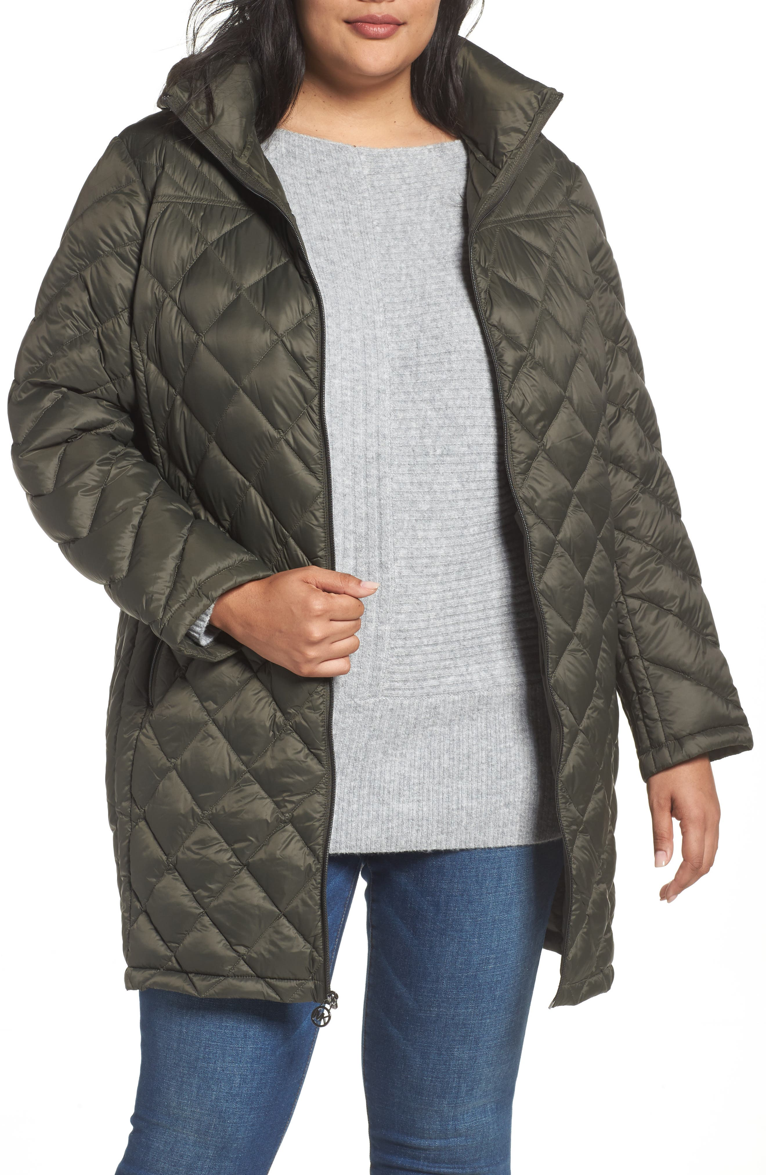 Alternate Image 1 Selected - MICHAEL Michael Kors Packable Down Jacket (Plus Size)