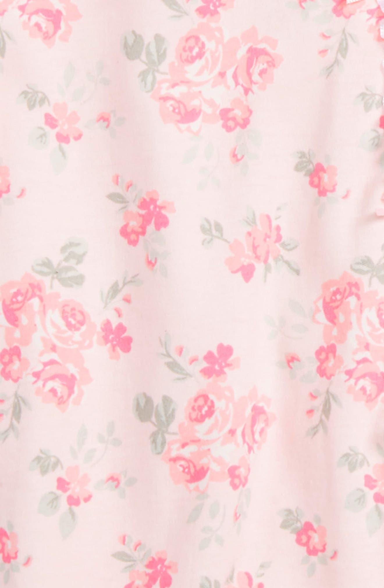 Footie & Beanie Set,                             Alternate thumbnail 3, color,                             Pink Floral