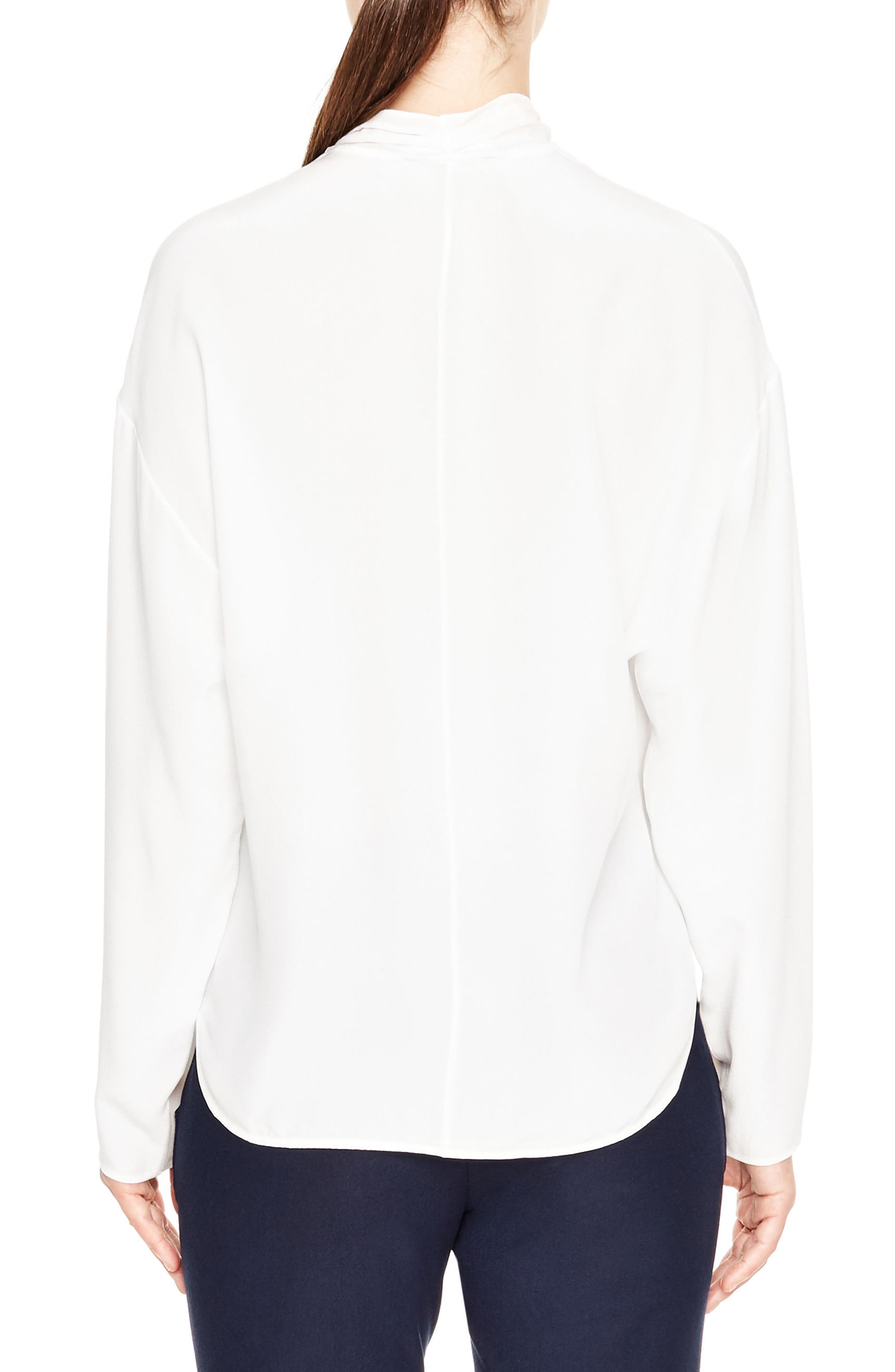 Alternate Image 2  - sandro Tie Neck Silk Blouse