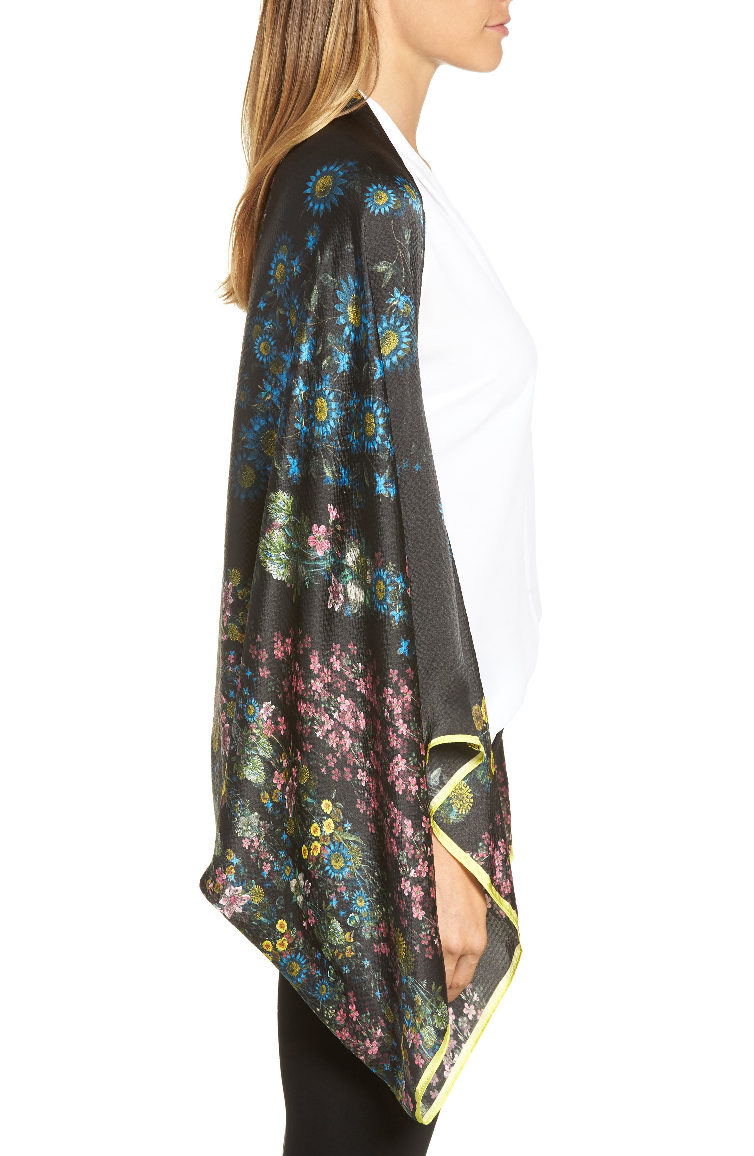 Alternate Image 3  - Ted Baker London Unity Floral Silk Cape Scarf