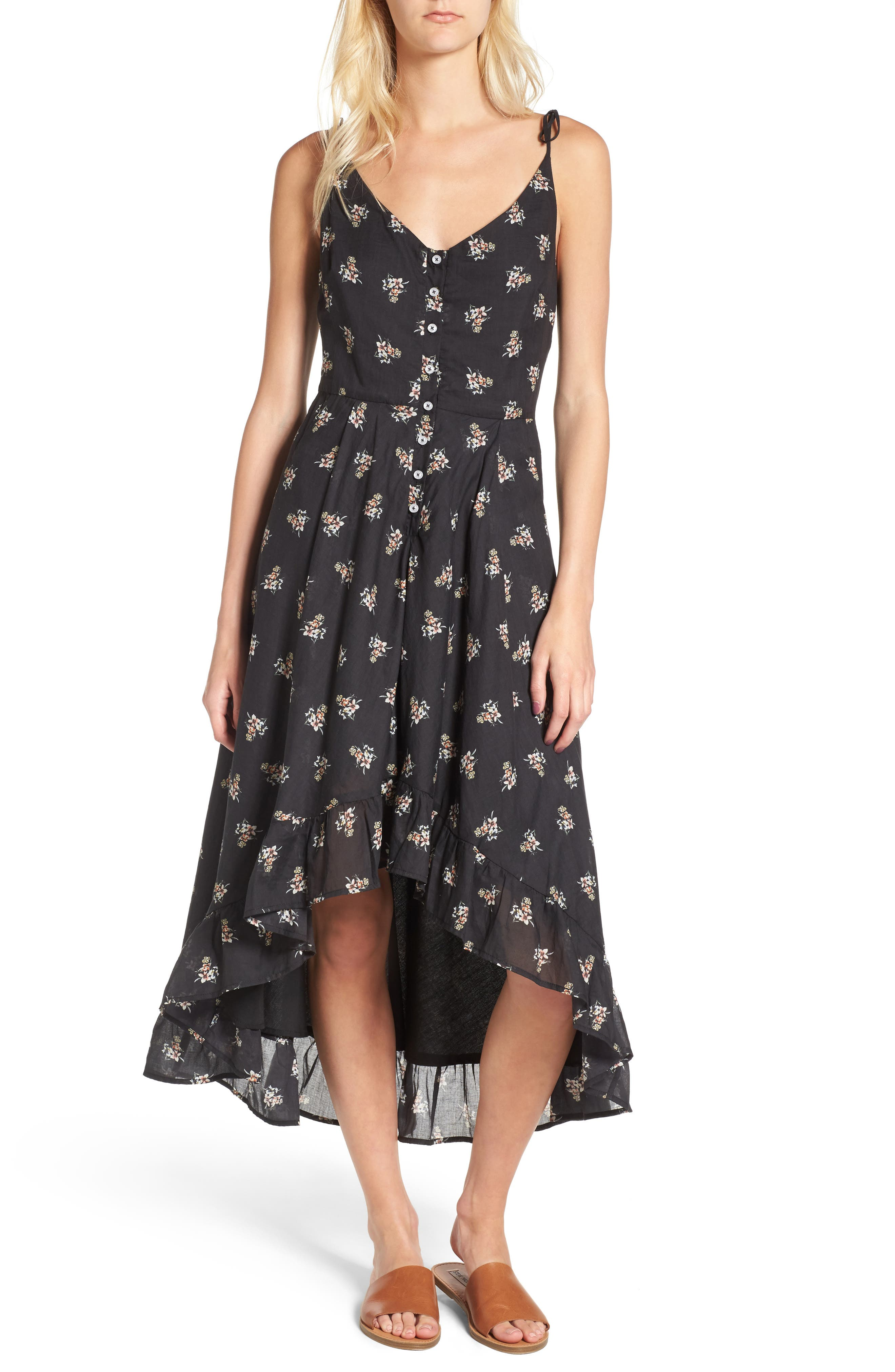 Regal Midi Dress,                             Main thumbnail 1, color,                             Isi Floral