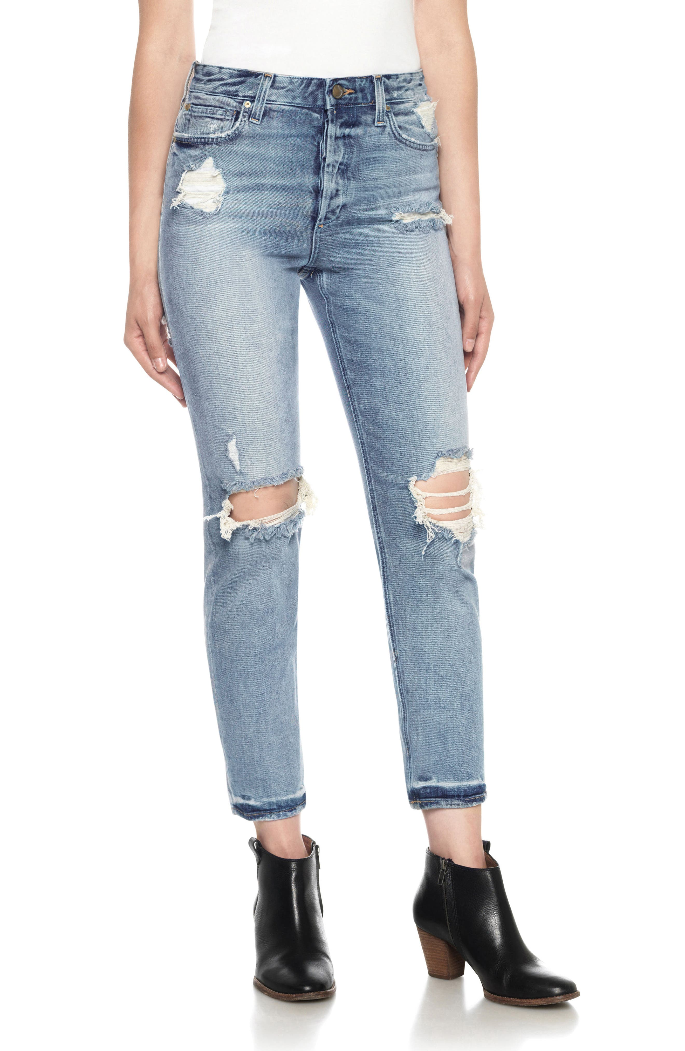 Classics Debbie High Waist Ankle Straight Leg Jeans,                         Main,                         color, Serafina