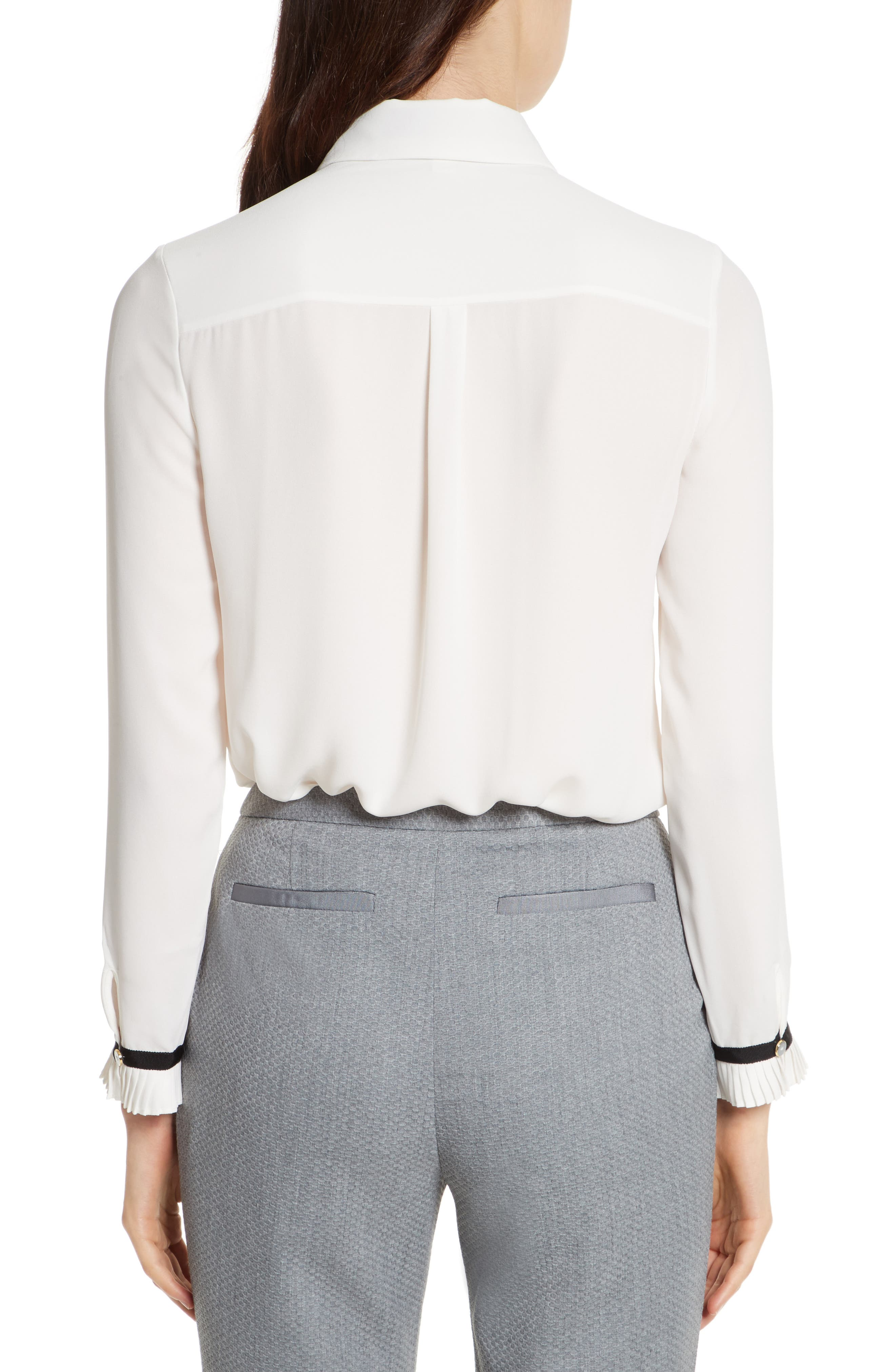 Alternate Image 3  - Ted Baker London Pleated Frill Tie Neck Shirt