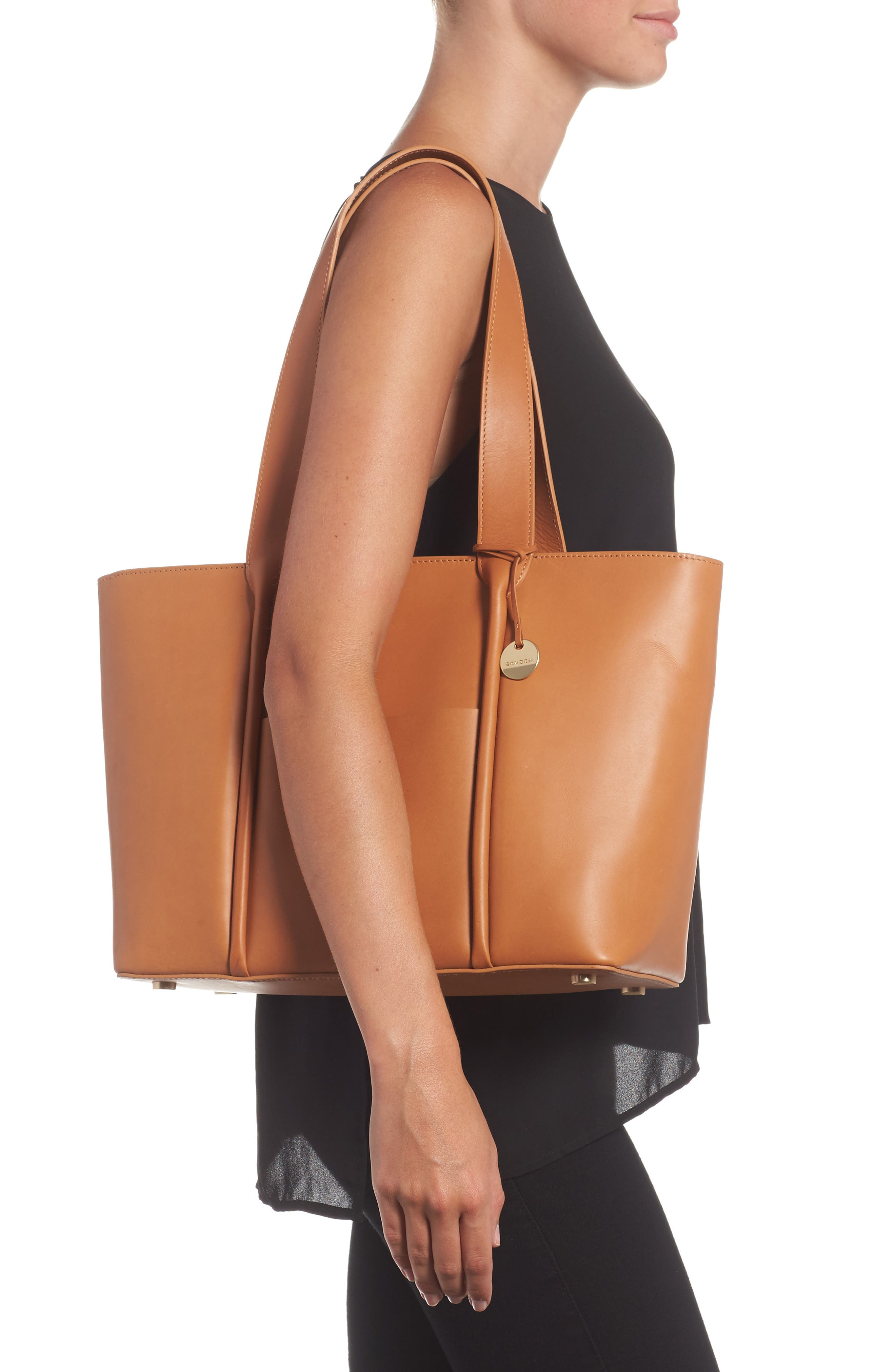 Lisabet Leather Tote,                             Alternate thumbnail 2, color,                             Tan