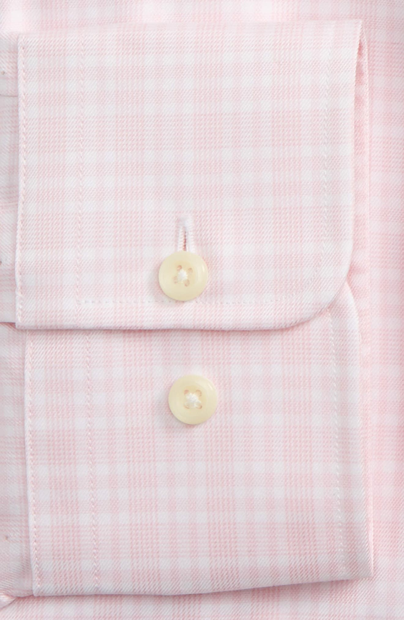 Regular Fit Plaid Dress Shirt,                             Alternate thumbnail 2, color,                             Pink