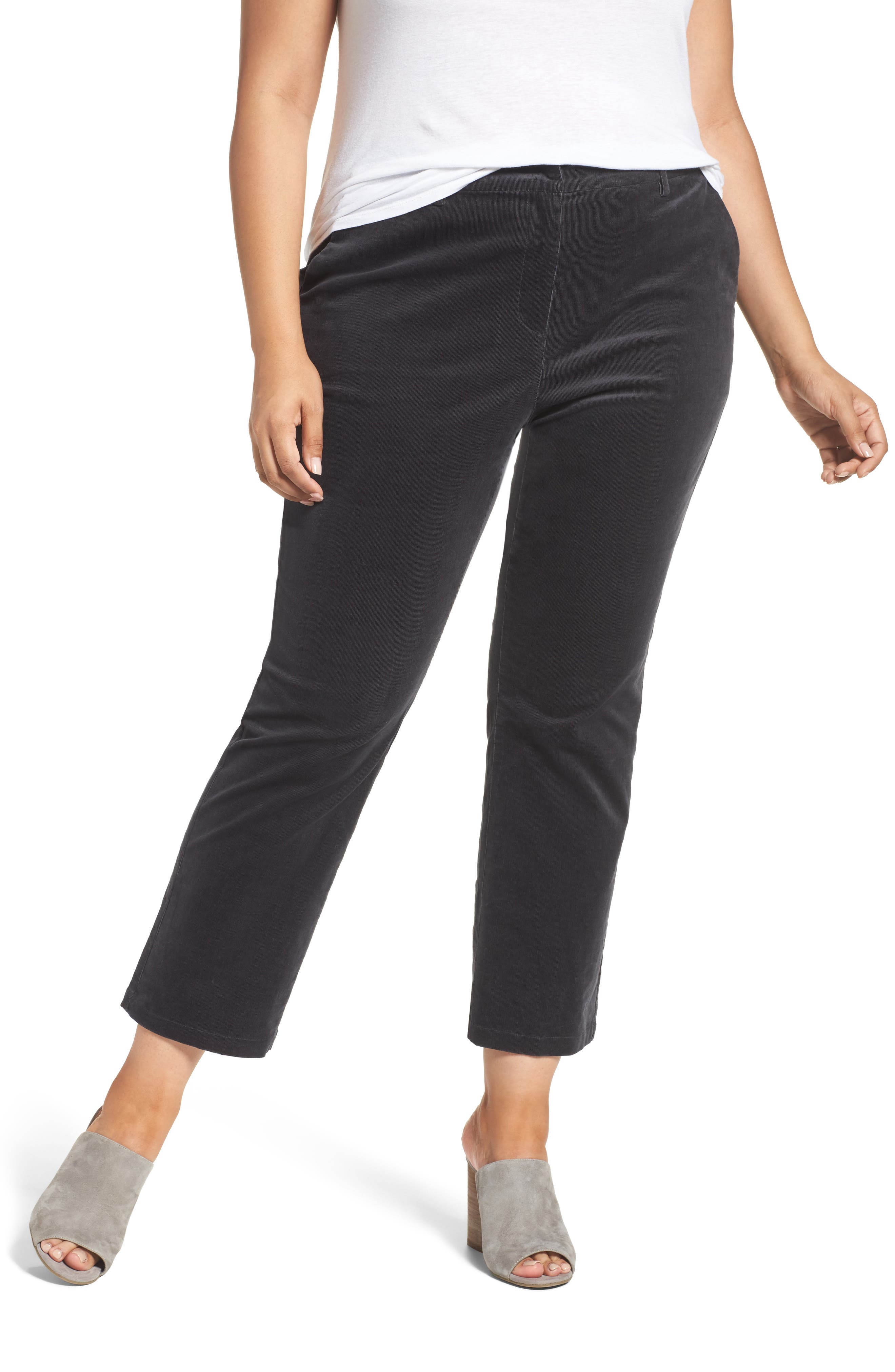 Sejour Velvet Ankle Pants (Plus Size)